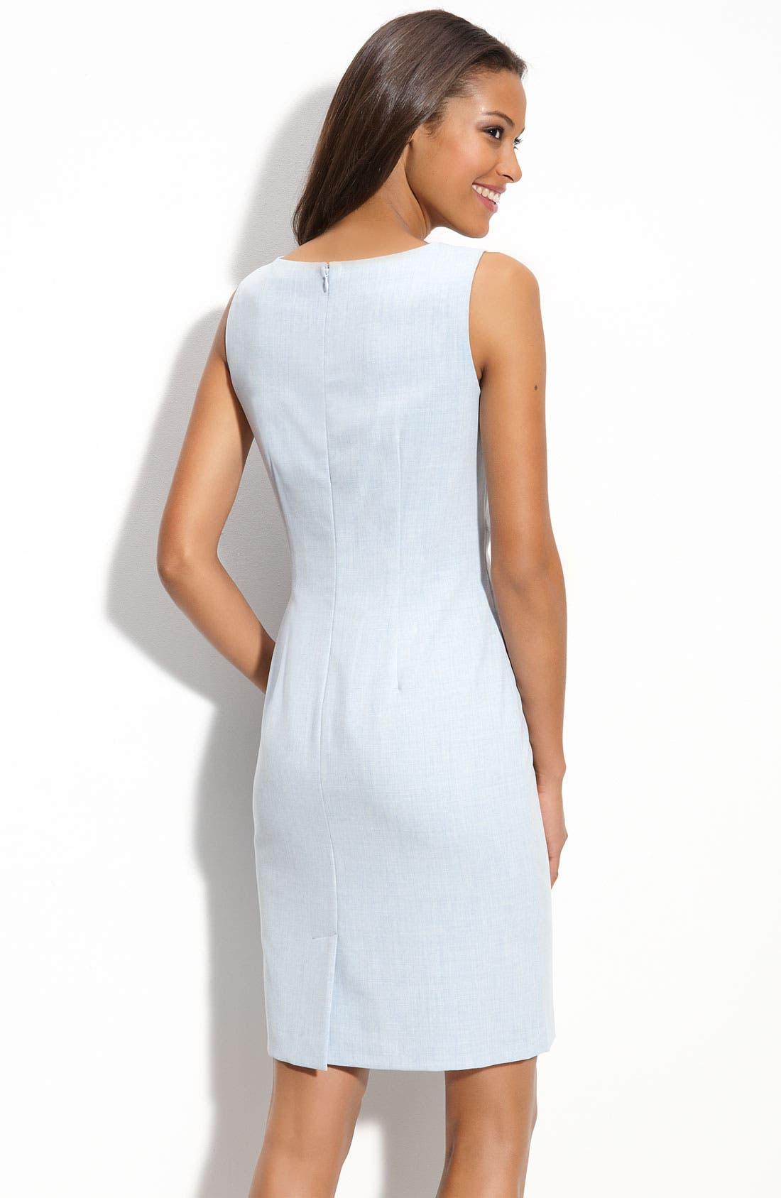 Alternate Image 2  - Calvin Klein 'Stretch Luxe' Seamed Sheath Dress