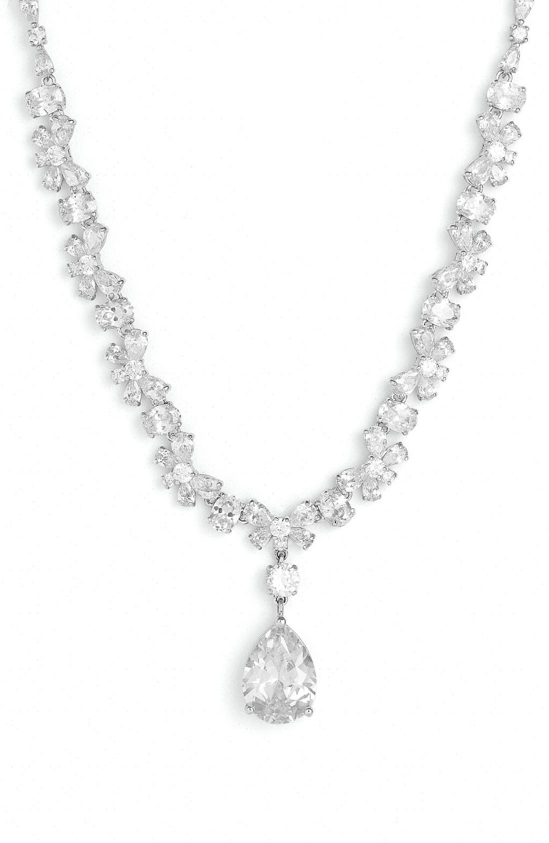 Alternate Image 1 Selected - Tasha Cubic Zirconia Pear Drop Necklace