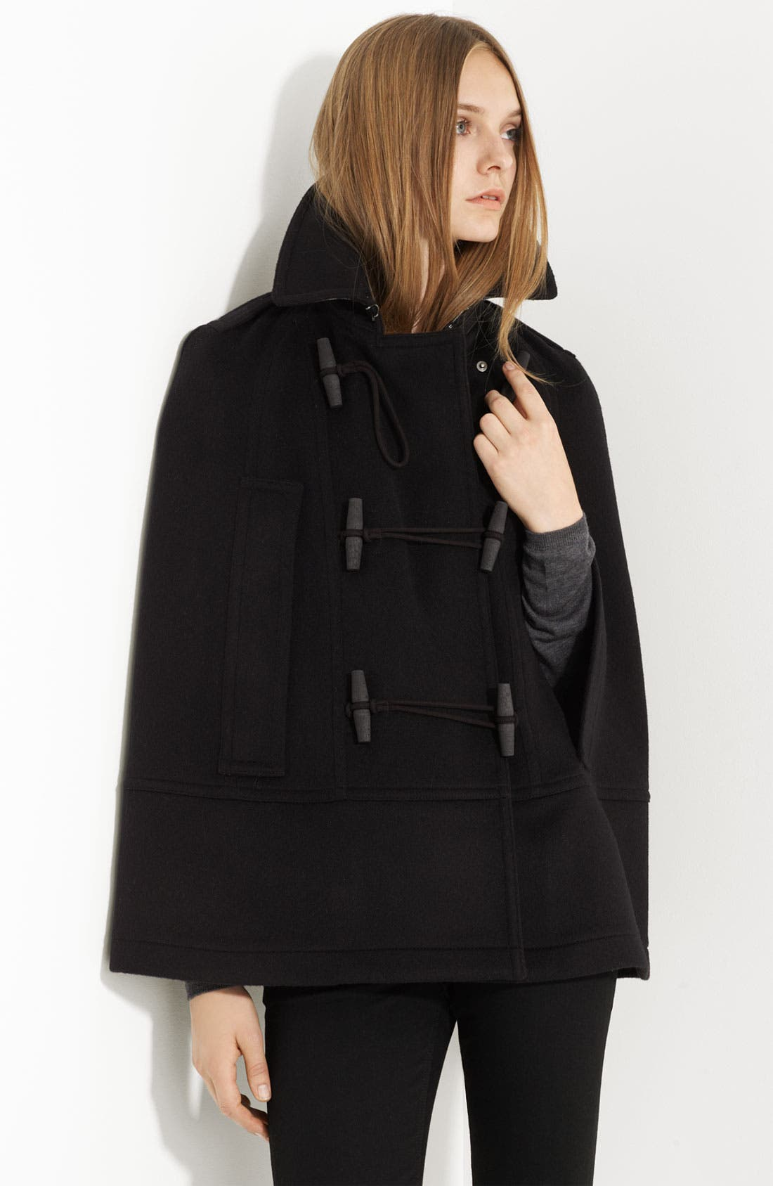 Alternate Image 2  - Burberry Brit Toggle Front Cape