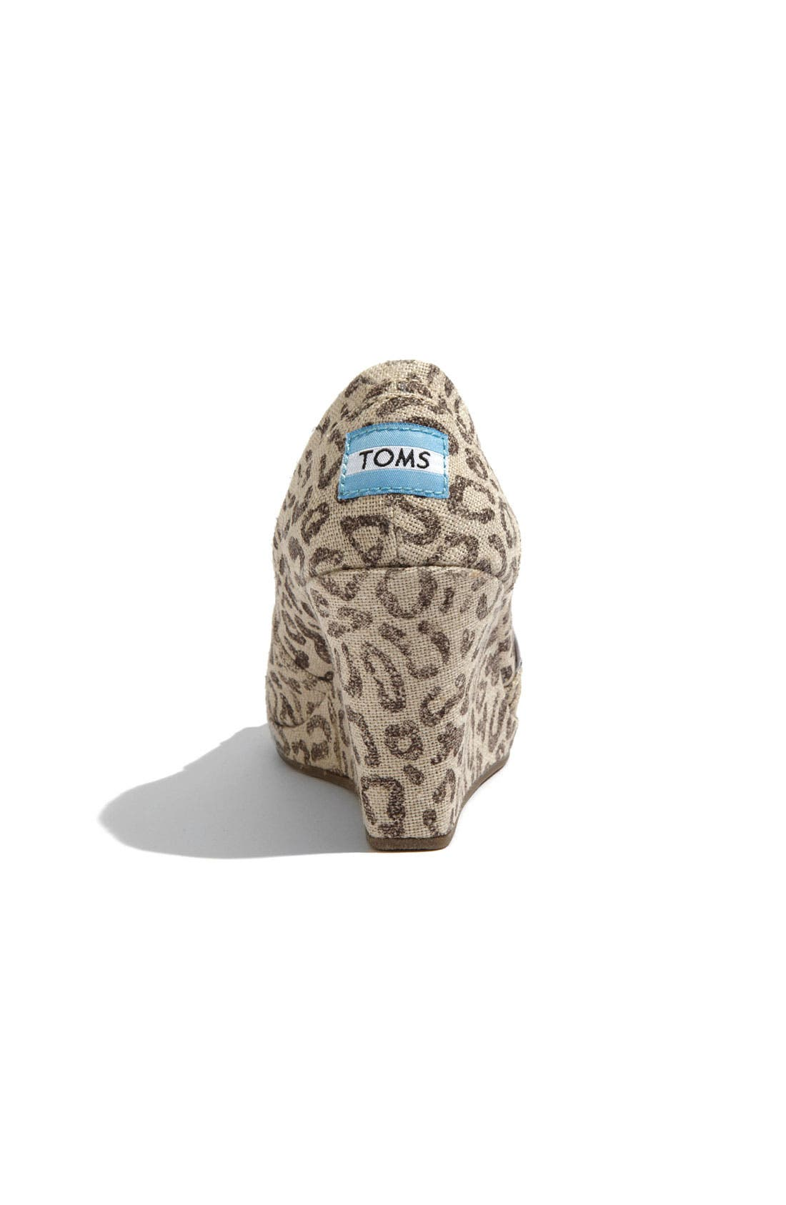 Alternate Image 4  - TOMS 'Snow Leopard' Burlap Wedge