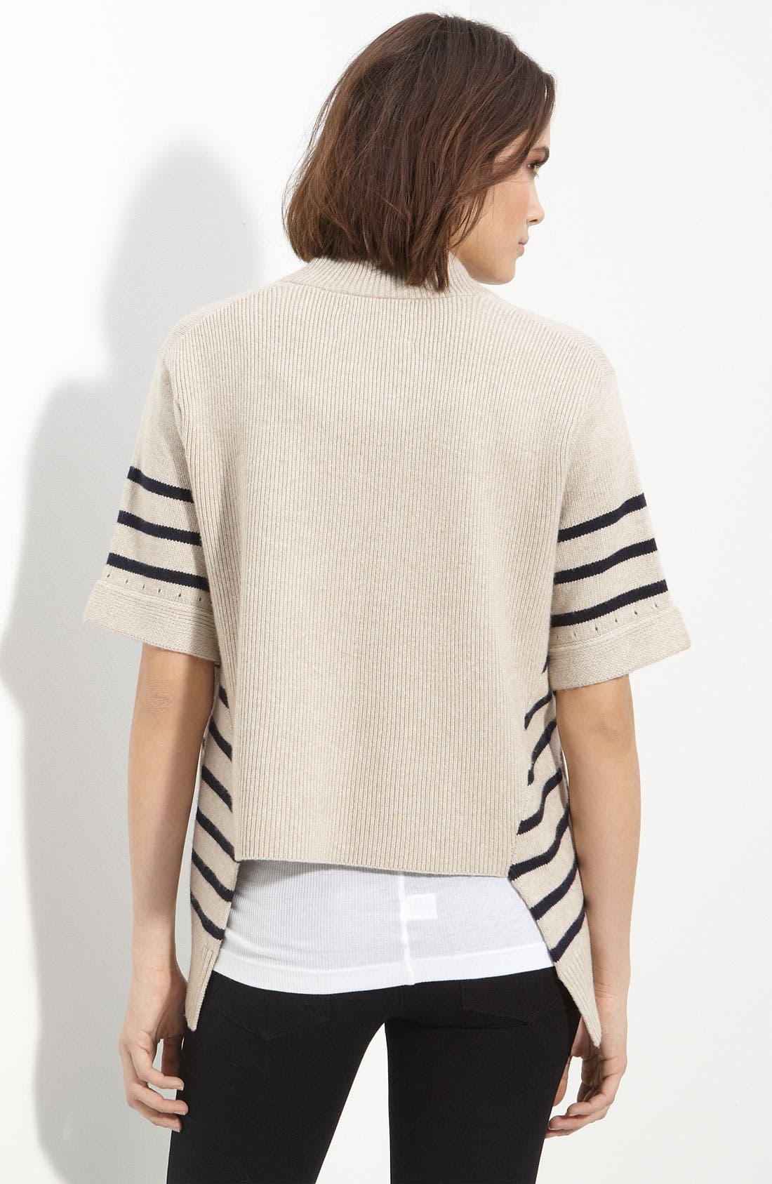 Alternate Image 2  - rag & bone 'Fenland' Stripe Drape Front Sweater