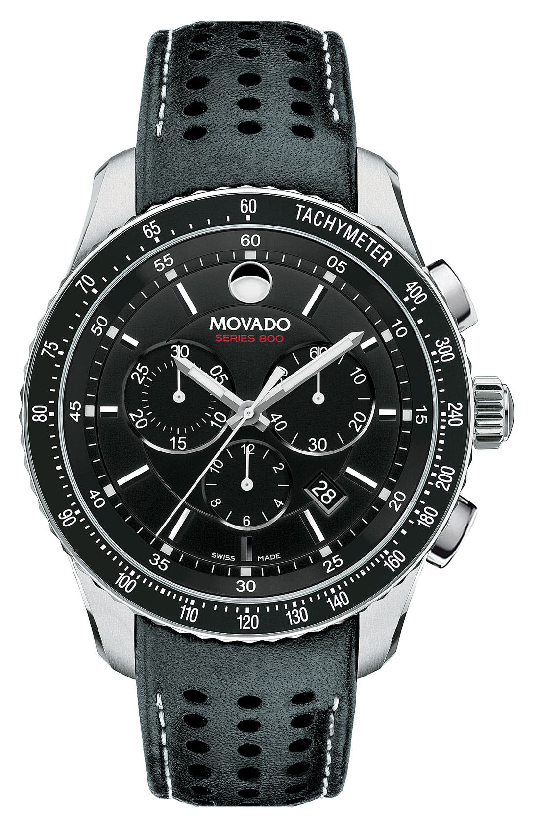 Main Image - Movado 'Series 800' Chronograph Strap Watch, 42mm