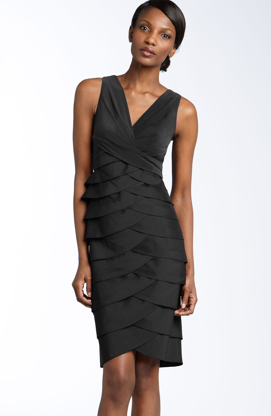 Alternate Image 1 Selected - Adrianna Papell Jersey & Taffeta Sheath Dress