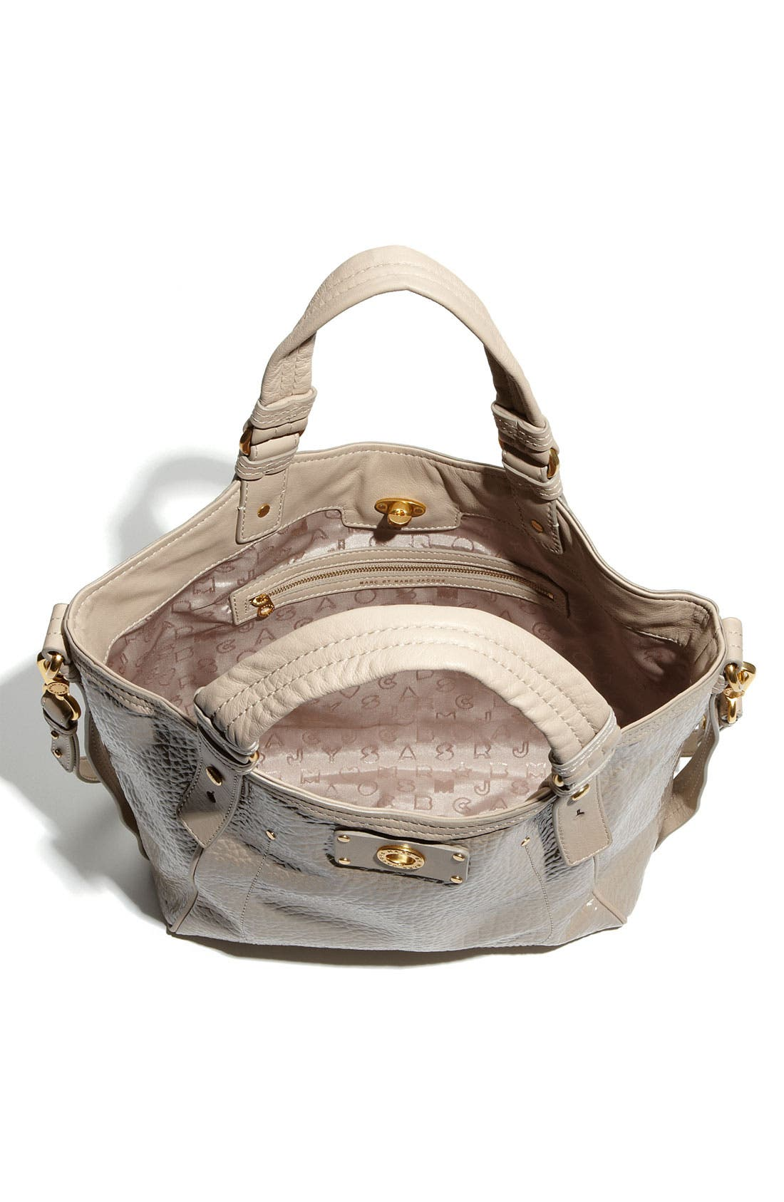 Alternate Image 3  - MARC BY MARC JACOBS 'Turnlock Shine Fran - Small' Patent Tote