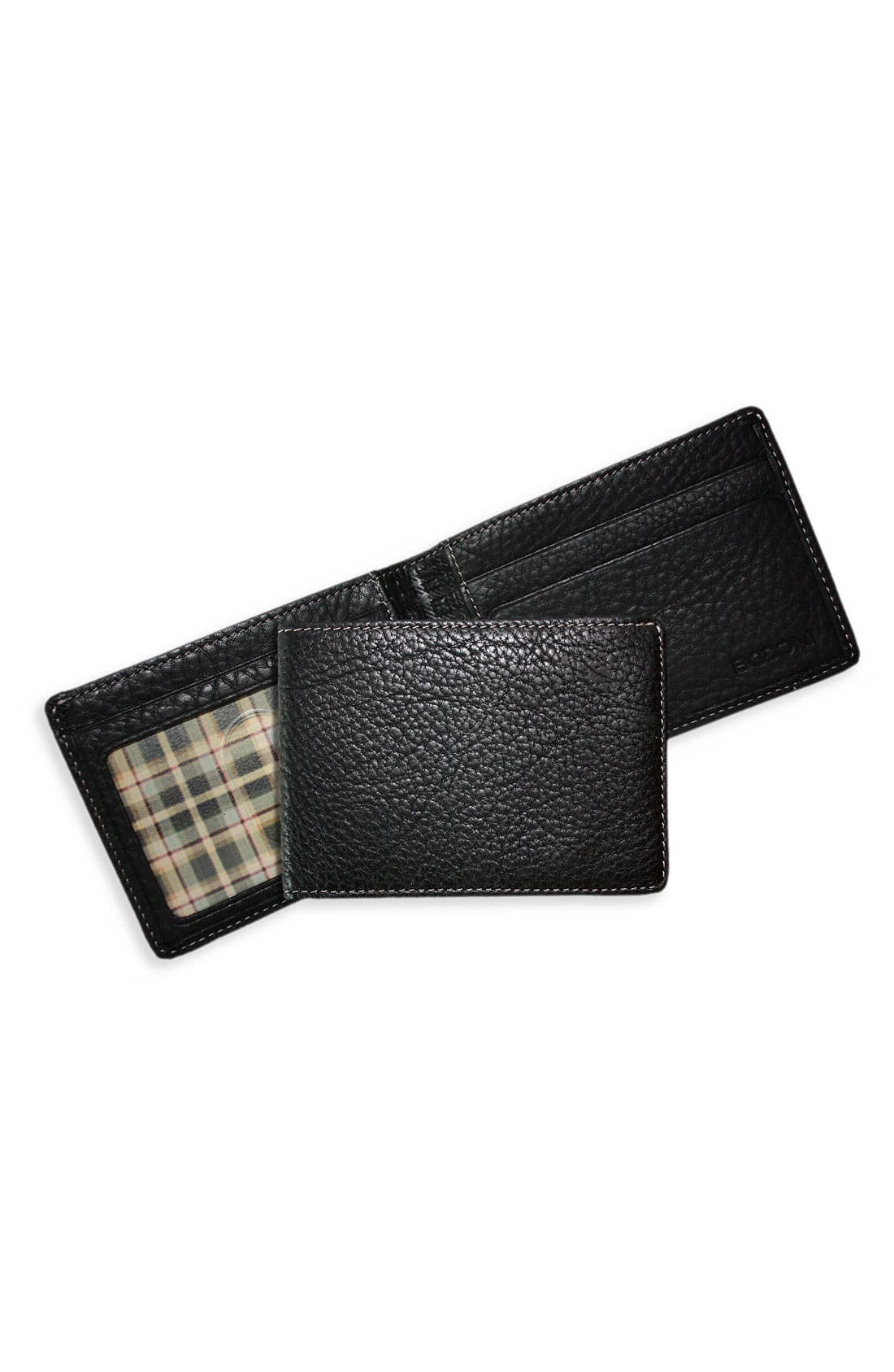 Main Image - Boconi 'Tyler Slimster' Tumbled Leather Wallet