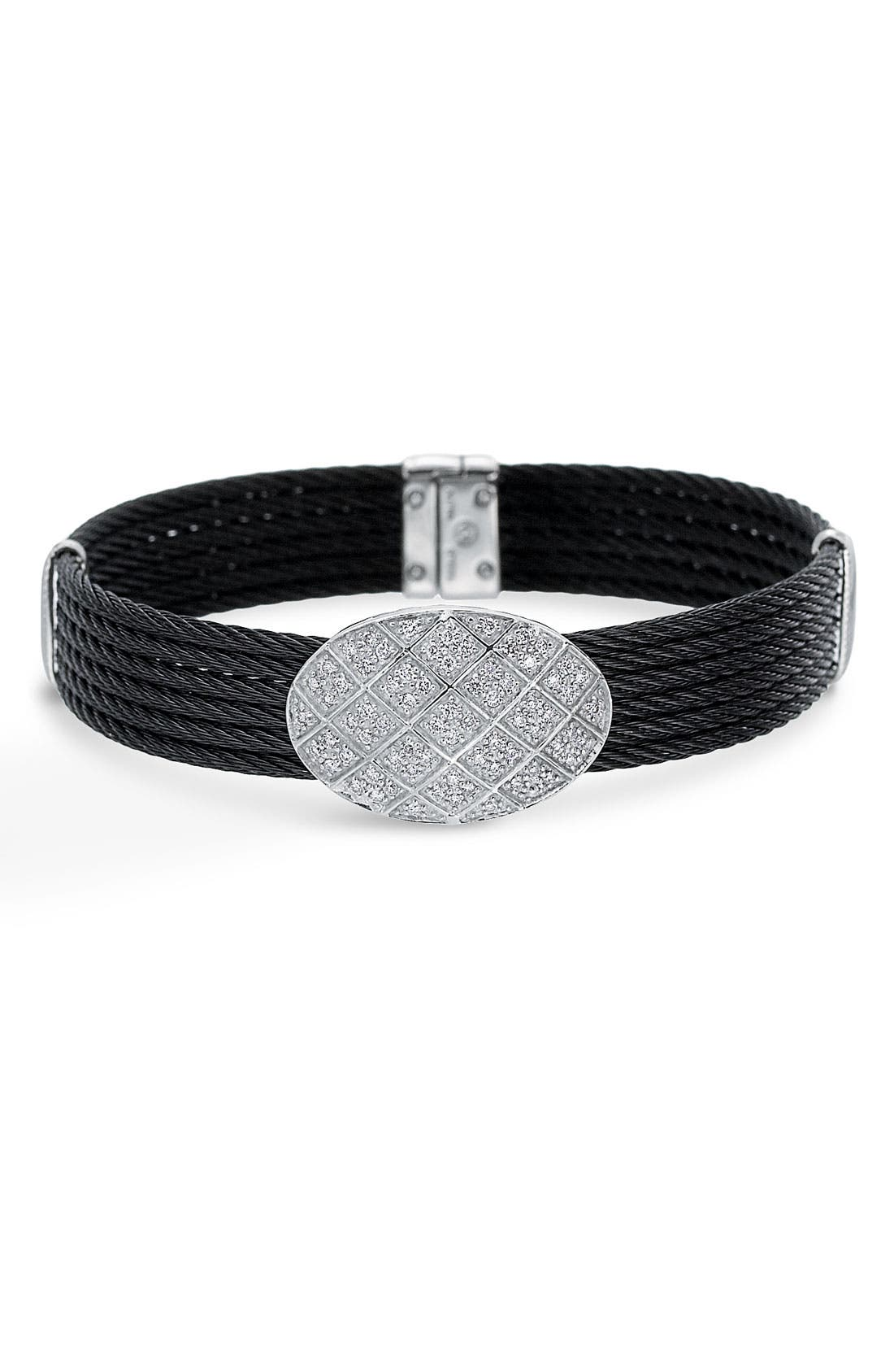 Main Image - ALOR® Diamond Pavé Station Bracelet