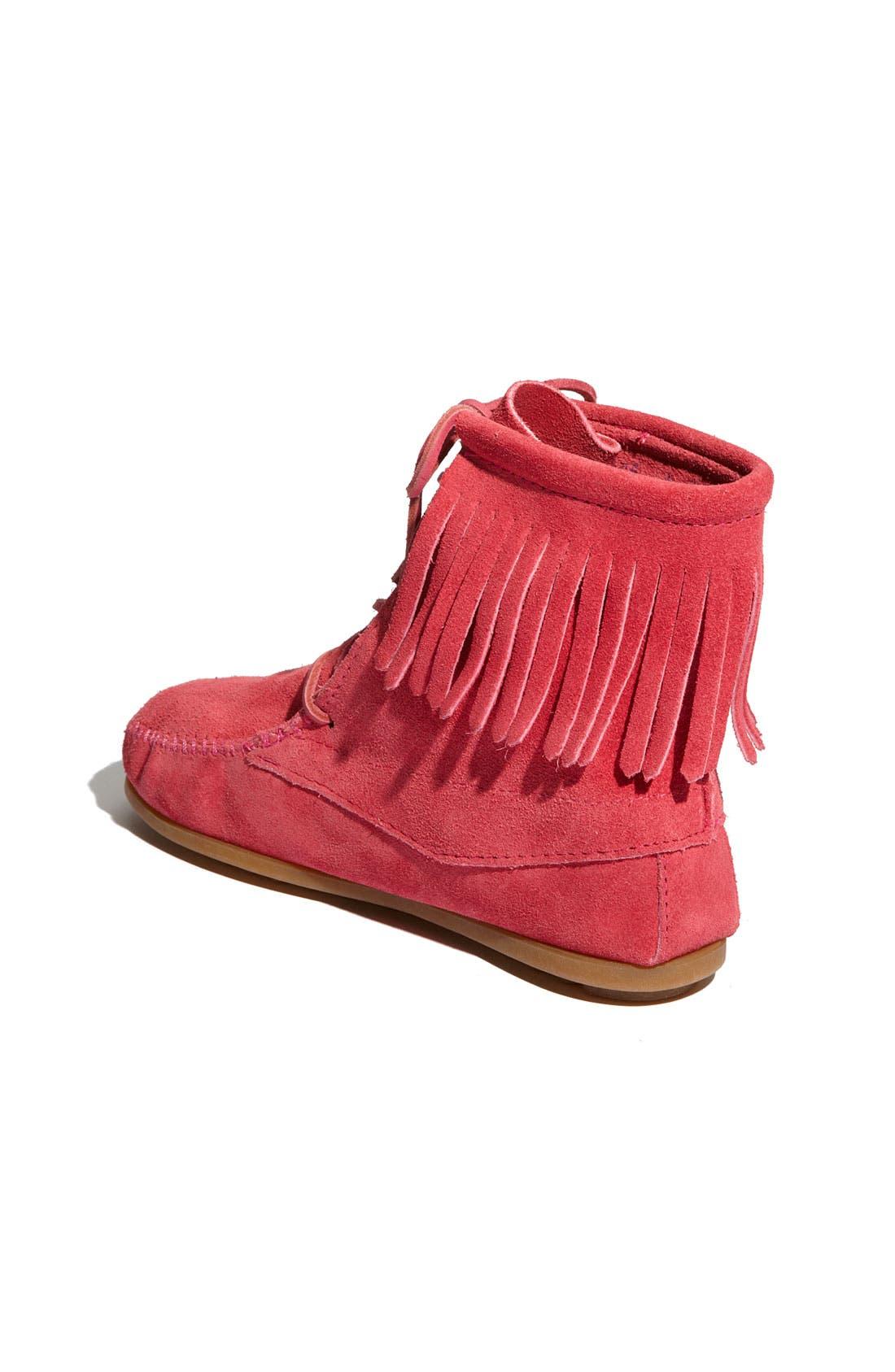 Alternate Image 2  - Minnetonka Lace-Up Boot (Walker, Toddler & Little Kid)
