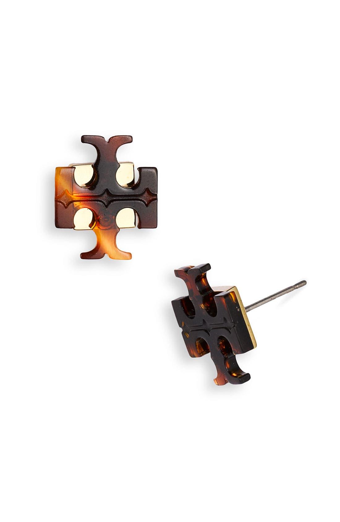 Alternate Image 1 Selected - Tory Burch 'Small T' Stud Earrings