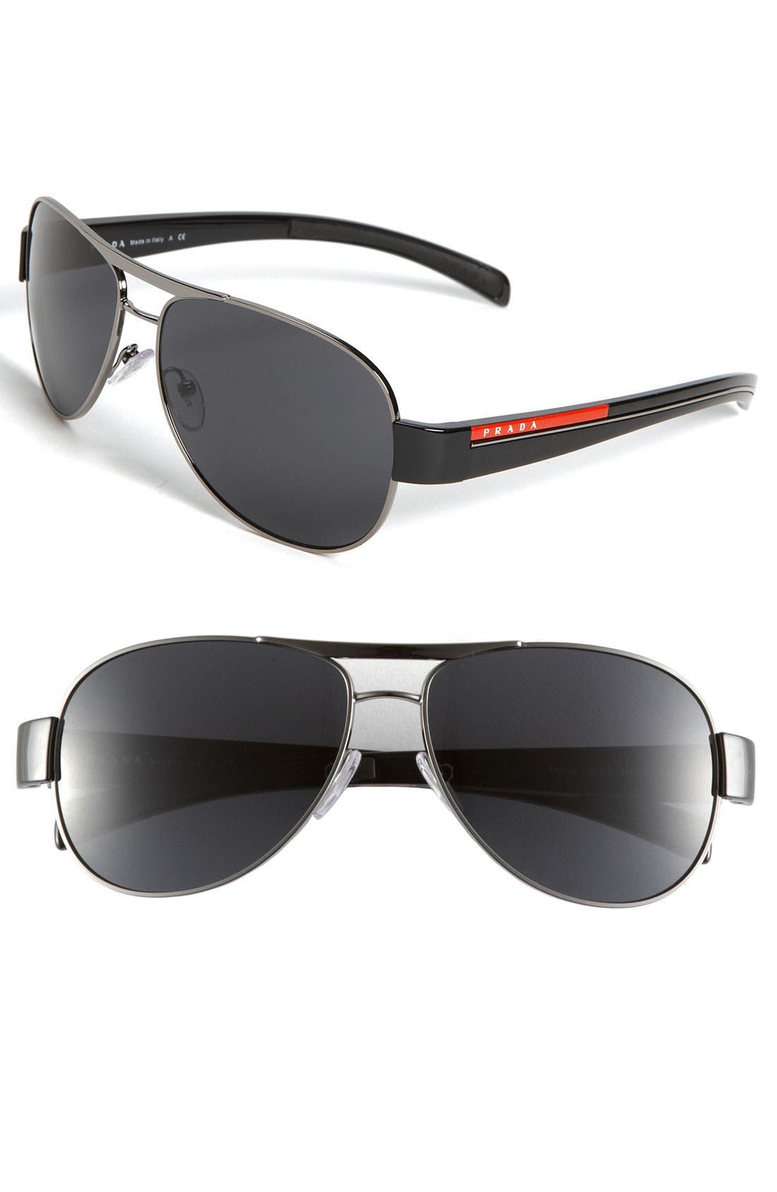 Alternate Image 1 Selected - Prada Aviator Sunglasses