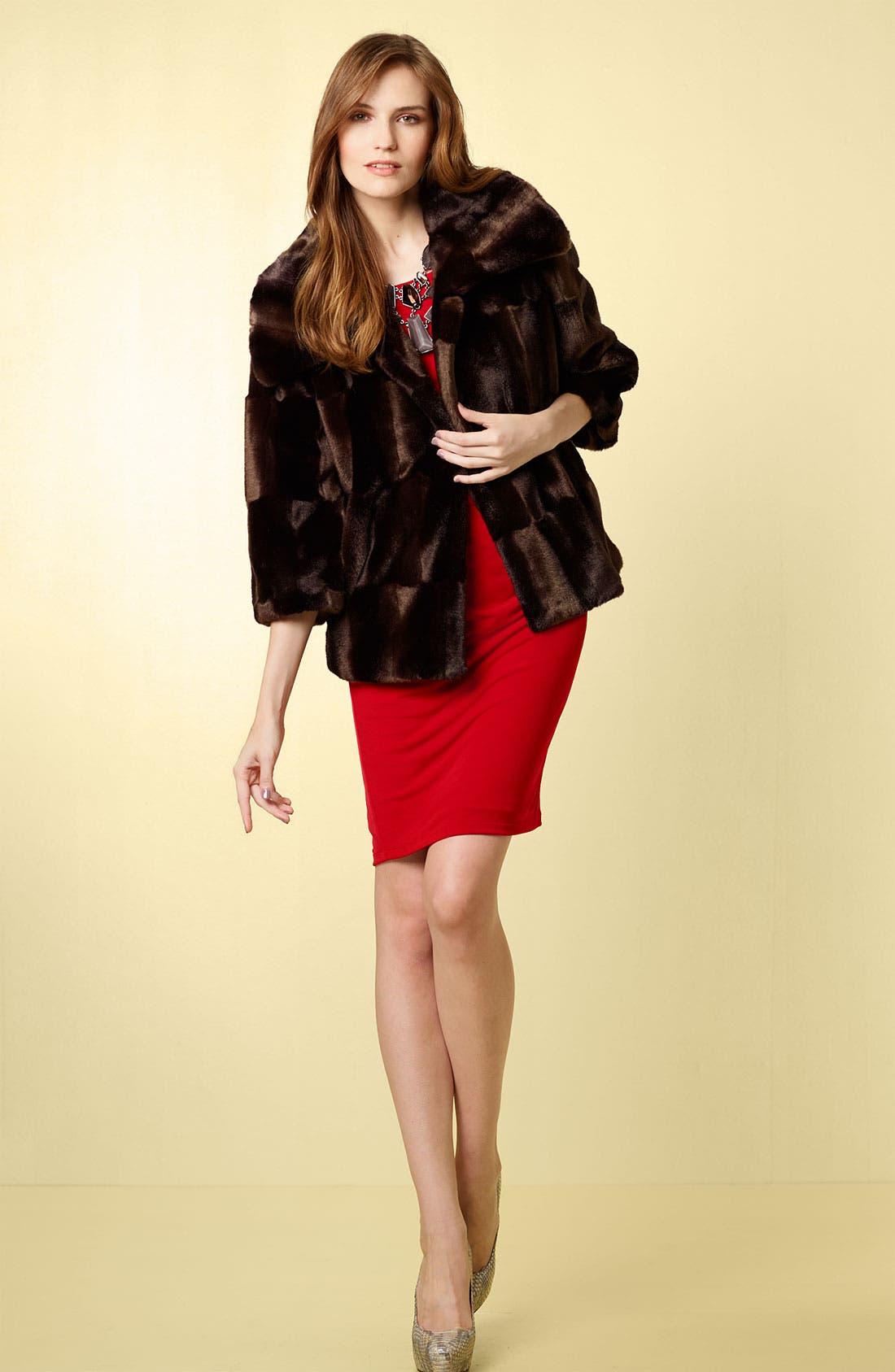 Alternate Image 3  - Tahari 'Tara' Faux Fur Coat
