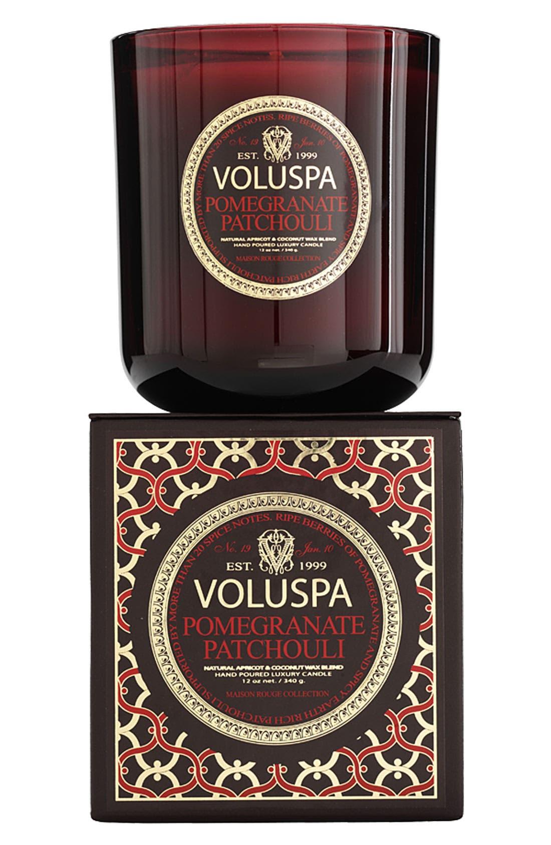Main Image - Voluspa 'Maison Rouge - Pomegranate Patchouli' Scented Candle