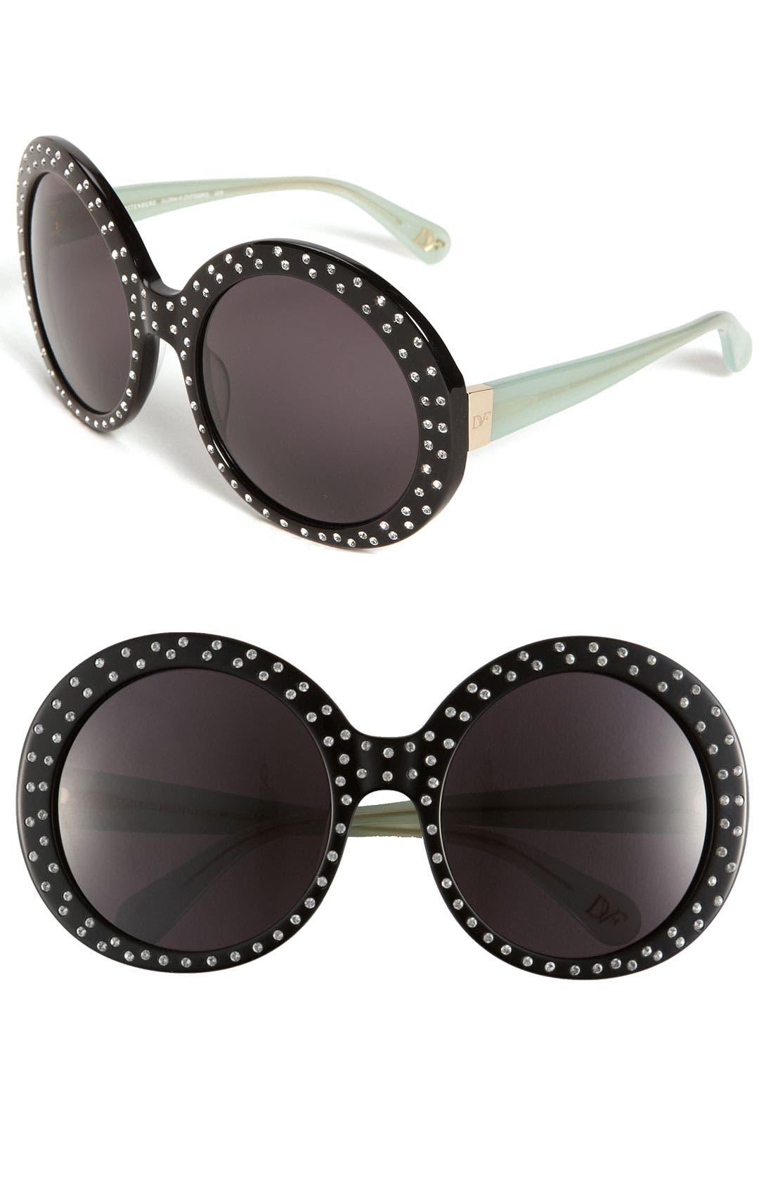 Alternate Image 1 Selected - Diane von Furstenberg 'Gloria - Oversized' Round Sunglasses