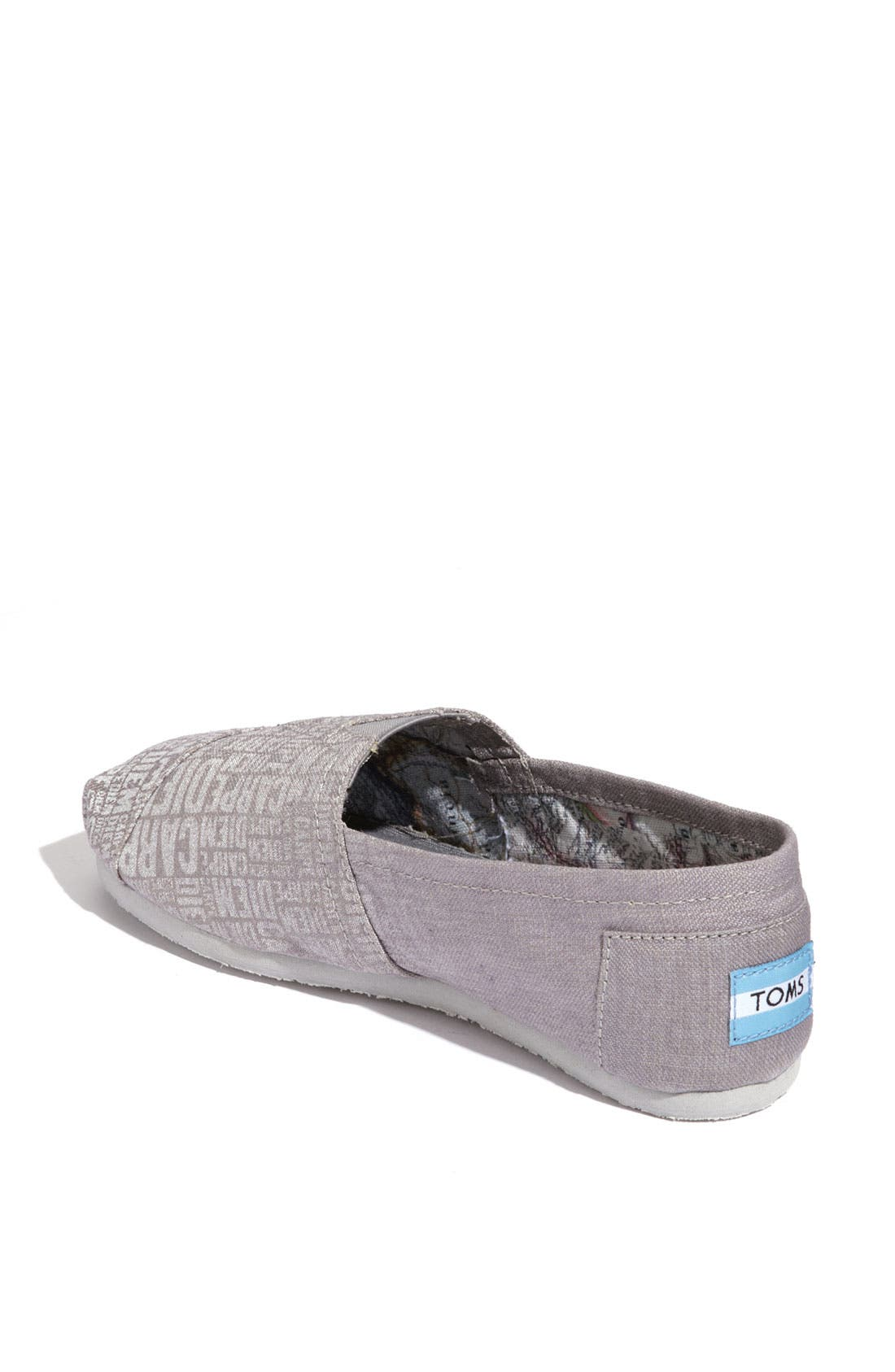 Alternate Image 2  - TOMS 'Classic - Carpe Diem' Canvas Slip-On (Women)