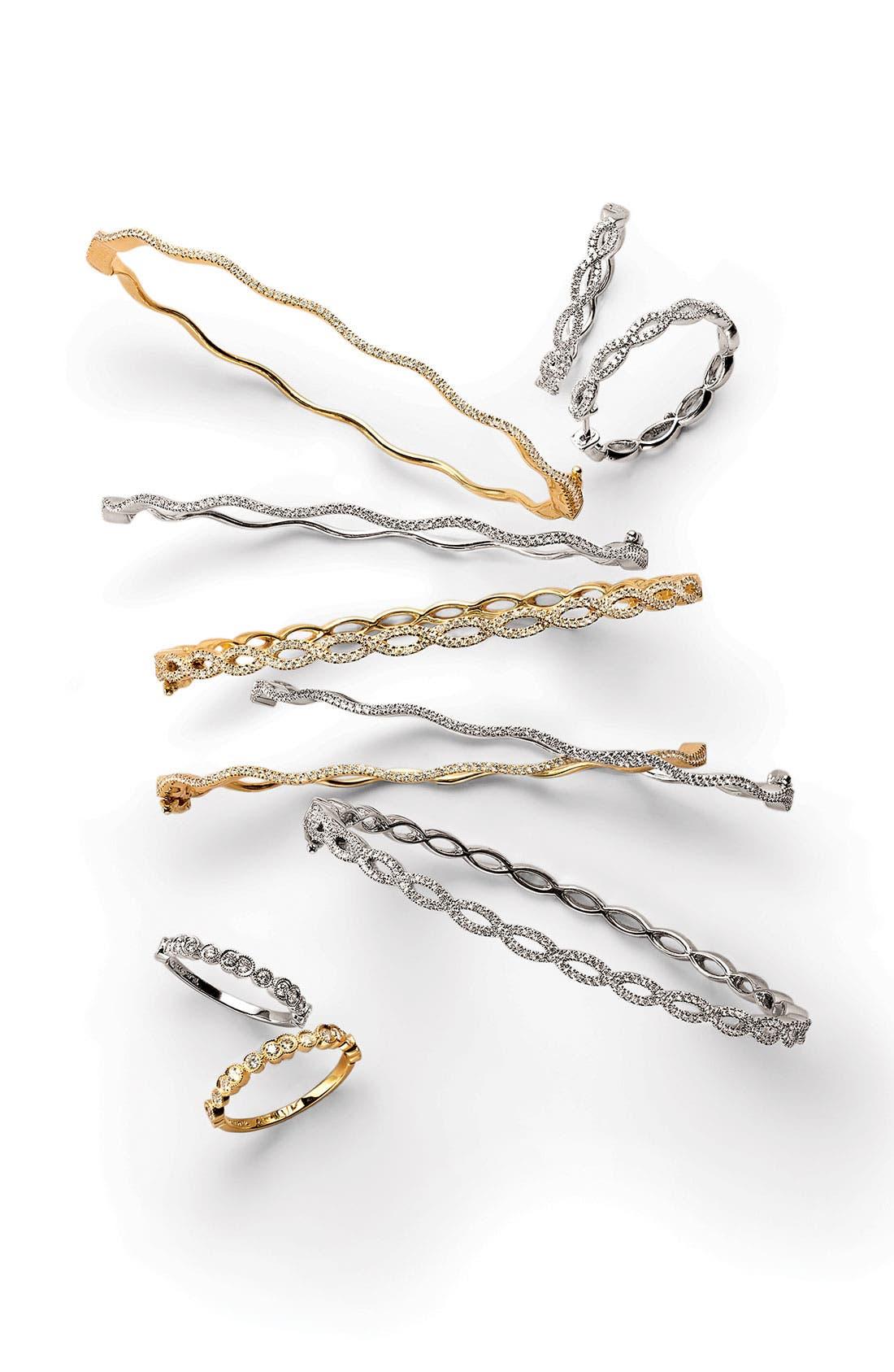 Alternate Image 2  - Bony Levy Diamond Twist Hoop Earrings (Nordstrom Exclusive)