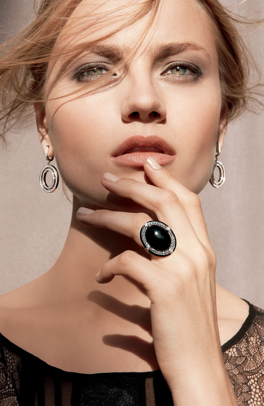 Alternate Image 4  - Ivanka Trump Small Oval Diamond Drop Earrings