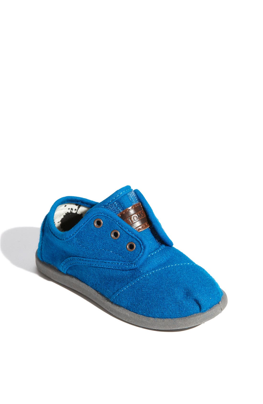 Main Image - TOMS 'Cordones - Tiny' Woolen Slip-On Sneaker (Baby, Walker & Toddler)