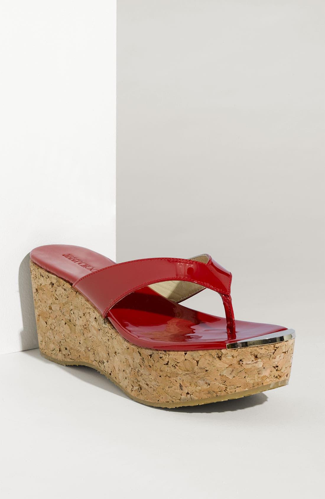 Main Image - Jimmy Choo 'Pathos Pat' Cork Wedge Sandal