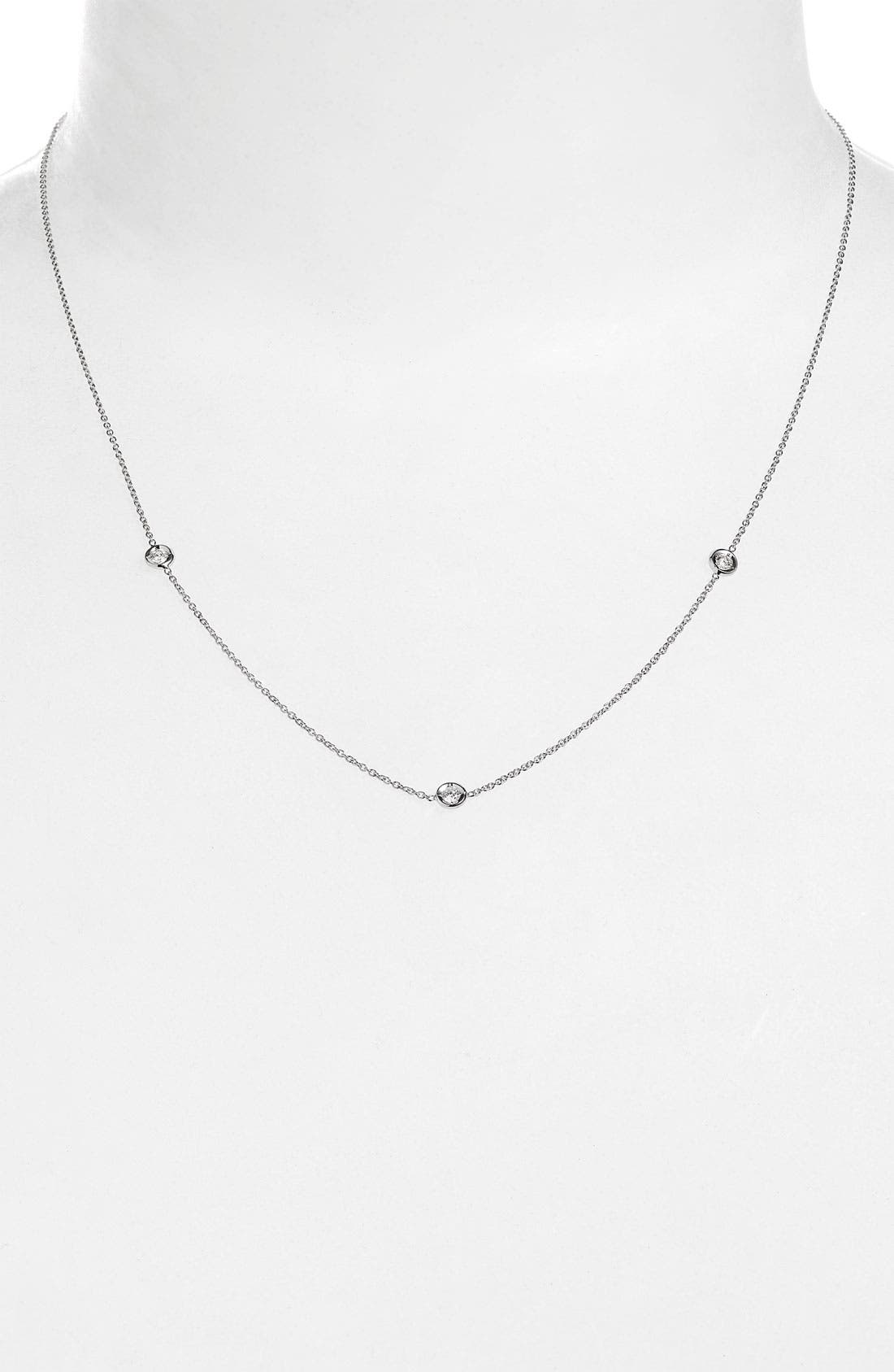 Alternate Image 1 Selected - Roberto Coin Diamond Station Necklace