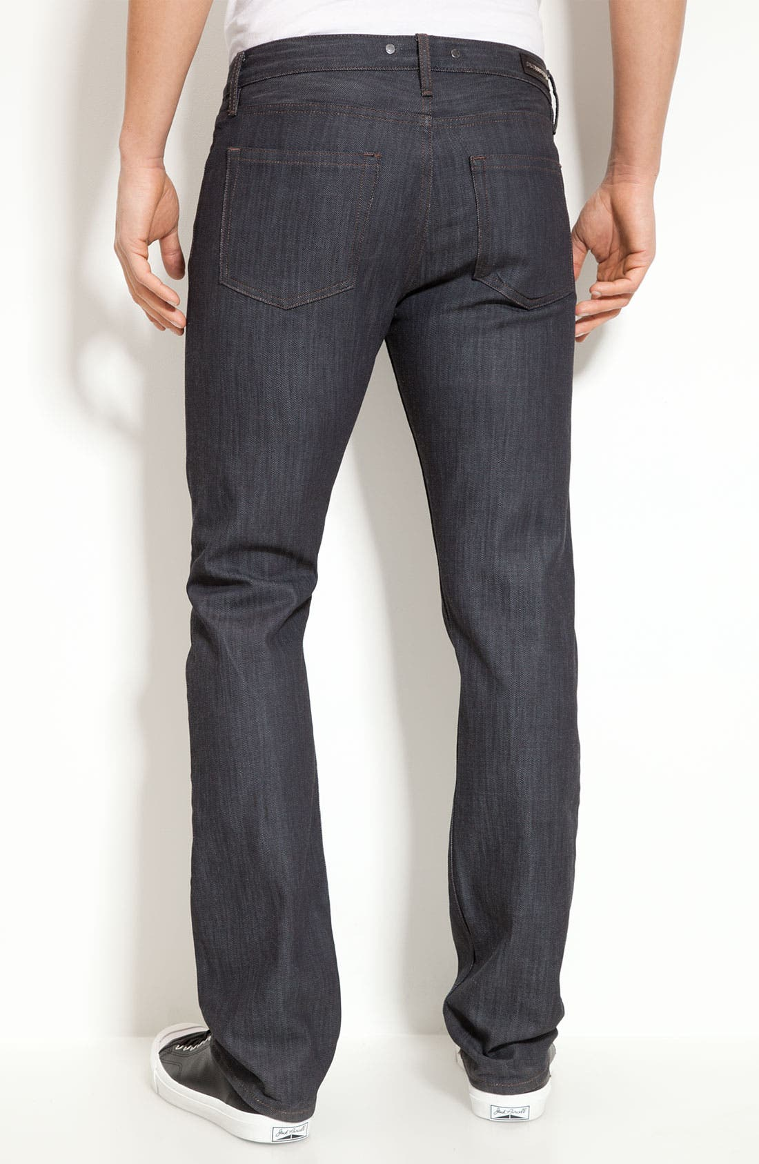 Main Image - Burberry London Slim Leg Jeans (Navy Wash)