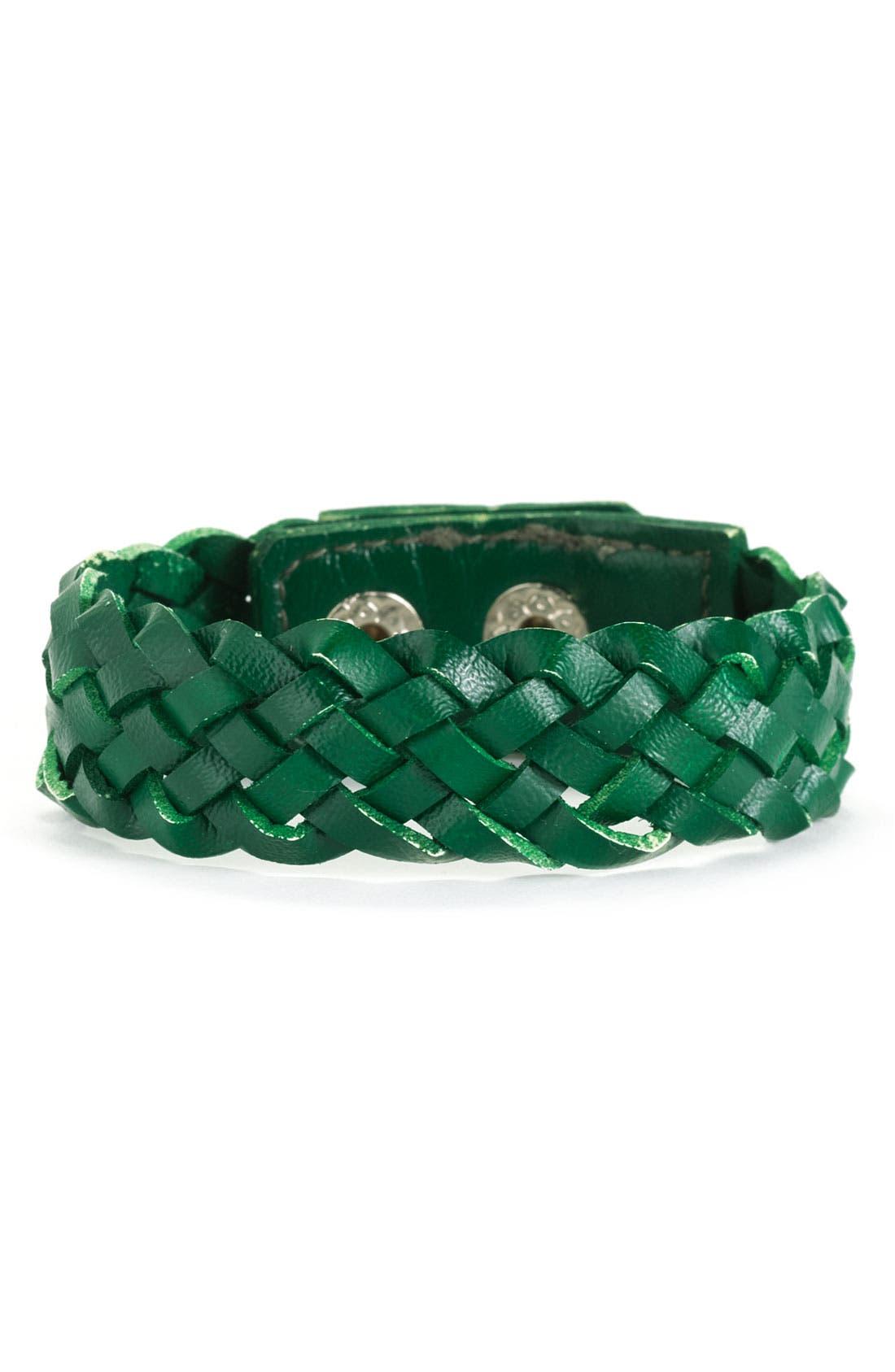Main Image - Carole Woven Leather Bracelet