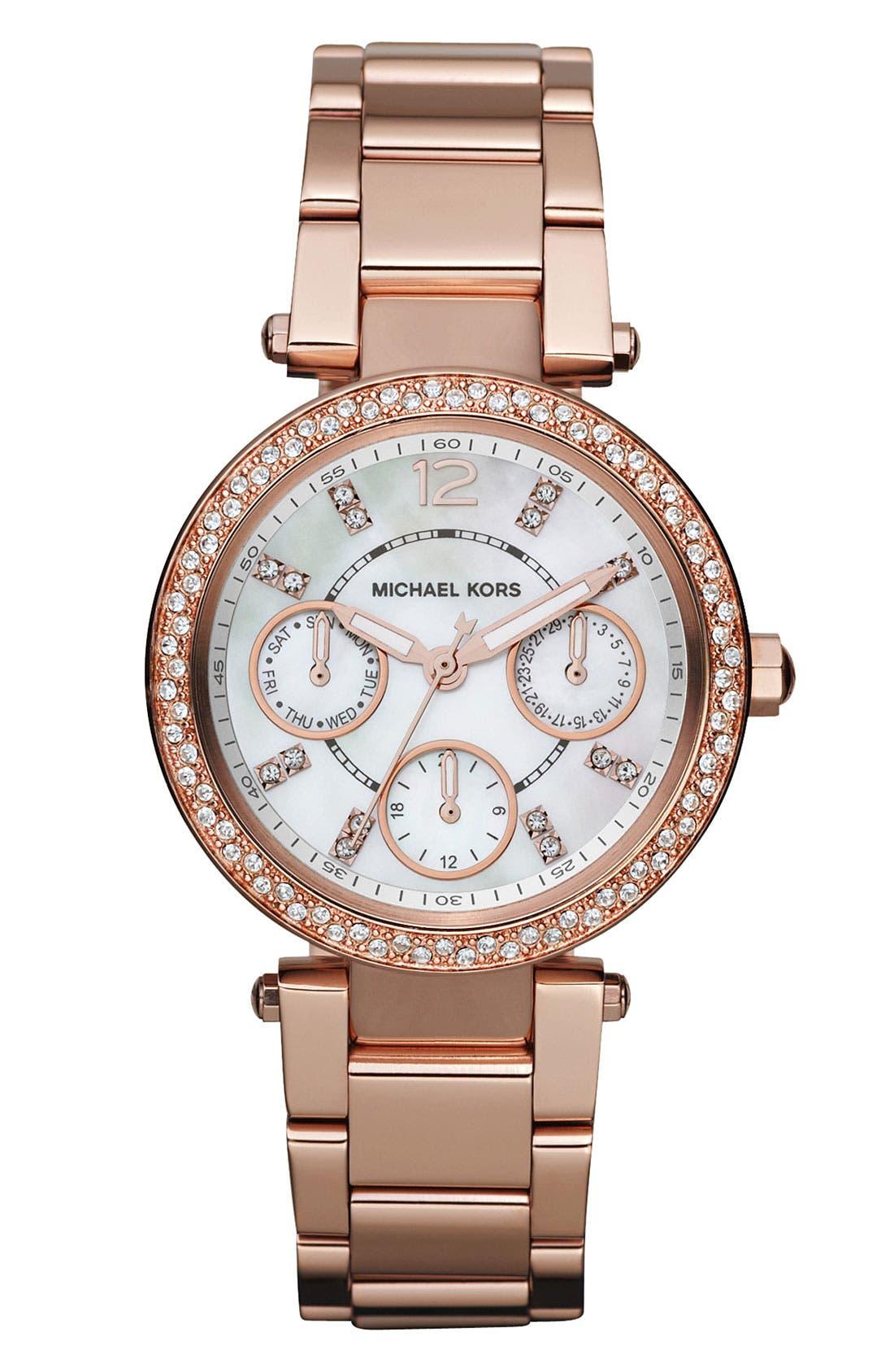 Main Image - Michael Kors 'Parker - Mini' Multifunction Watch, 33mm