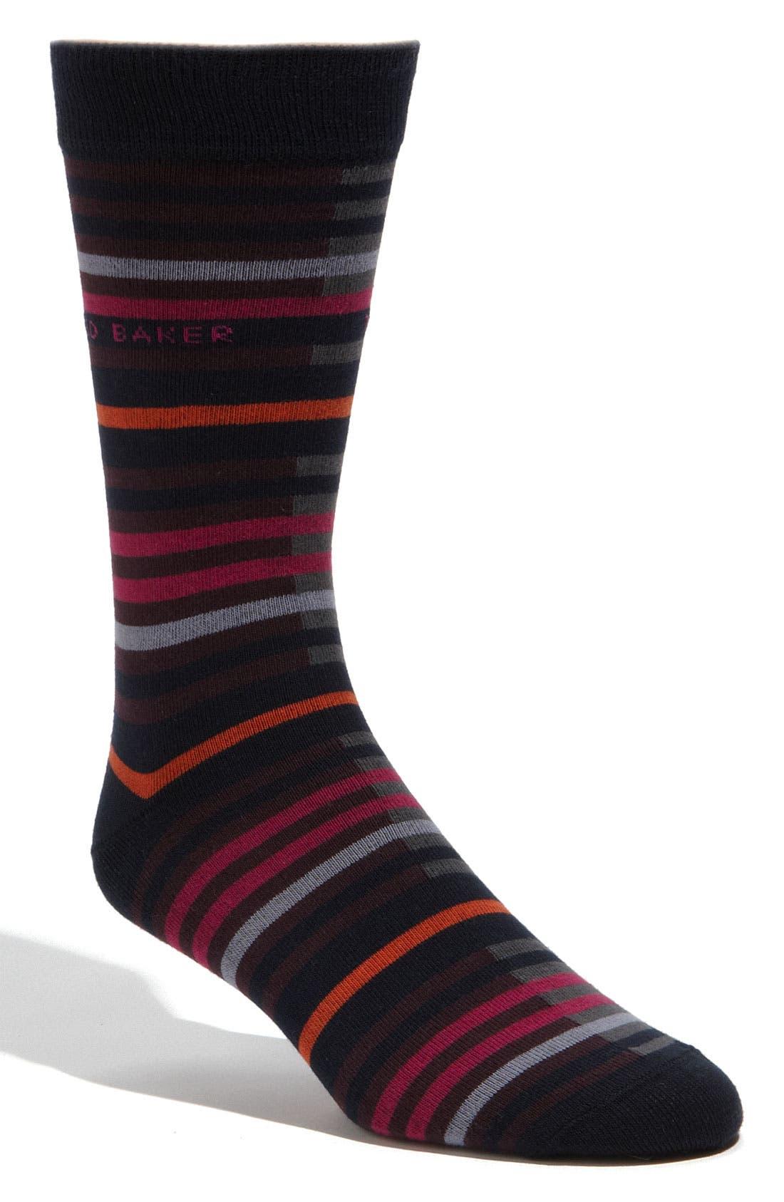 Alternate Image 1 Selected - Ted Baker London Level Stripe Socks
