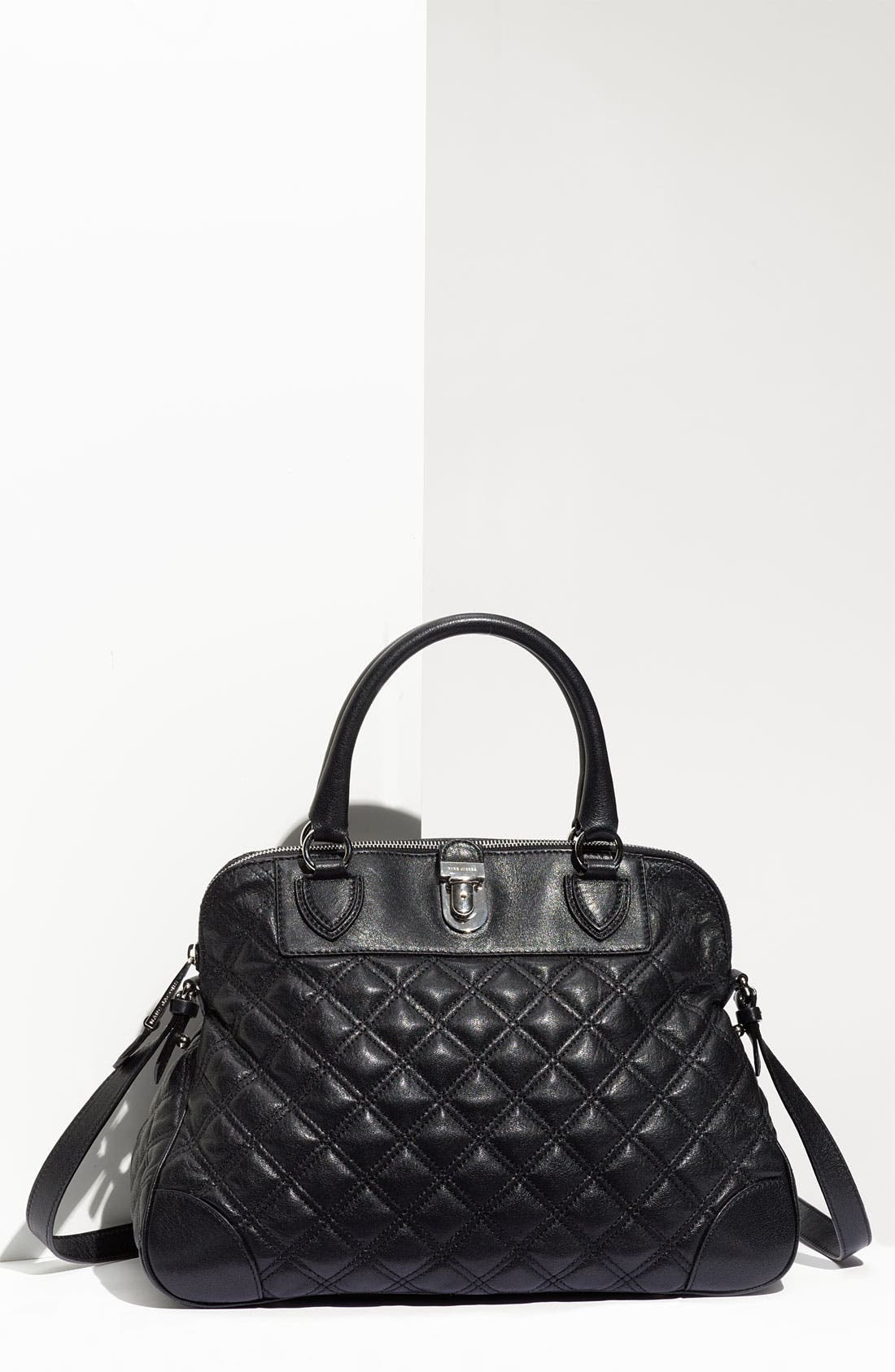Main Image - MARC JACOBS 'Quilting Whitney' Lambskin Leather Satchel