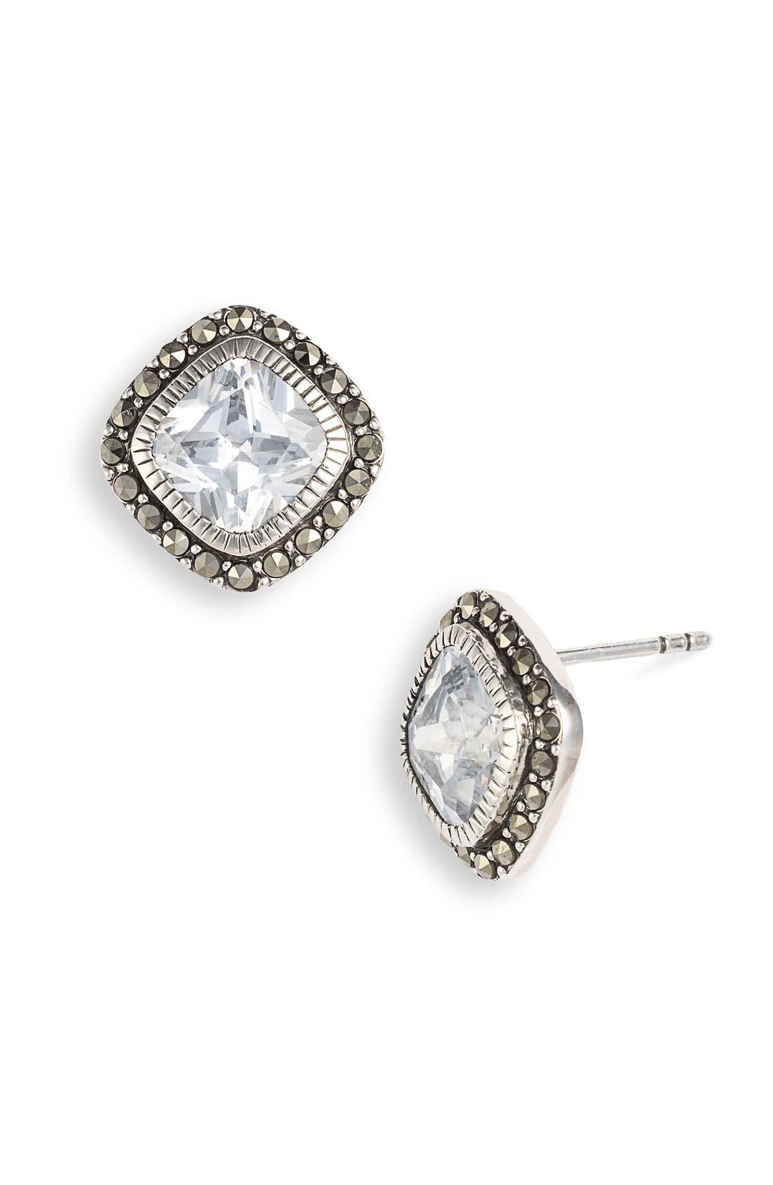 Alternate Image 1 Selected - Judith Jack 'Aquarius' Button Stud Earrings