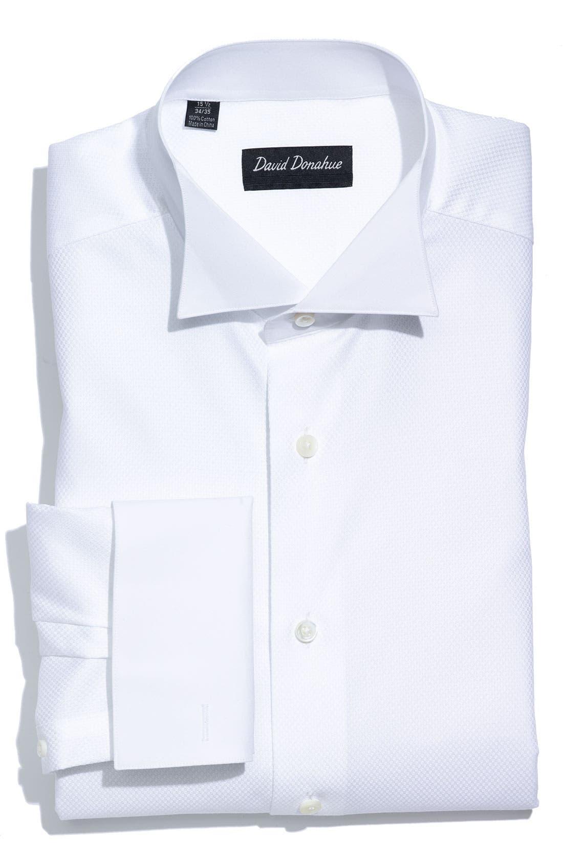 Main Image - David Donahue Regular Fit Tuxedo Shirt