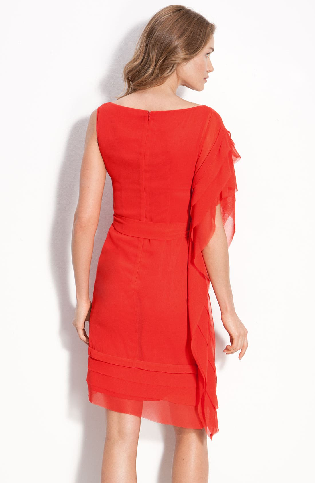 Alternate Image 2  - Vince Camuto Asymmetrical Layered Dress with Sash Tie