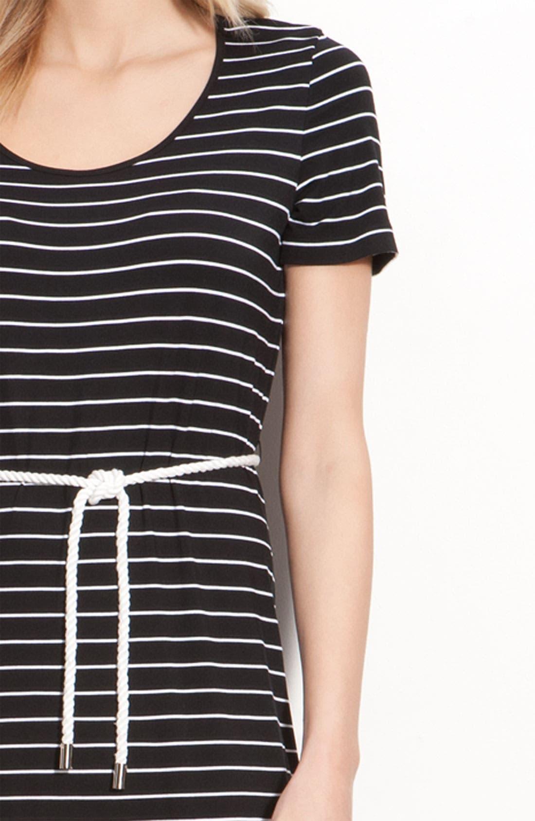 Alternate Image 3  - Calvin Klein Stripe Cap Sleeve Maxi Dress