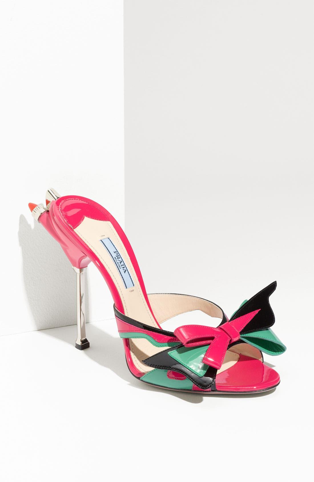 Alternate Image 1 Selected - Prada Bow Tail Light Slide Sandal