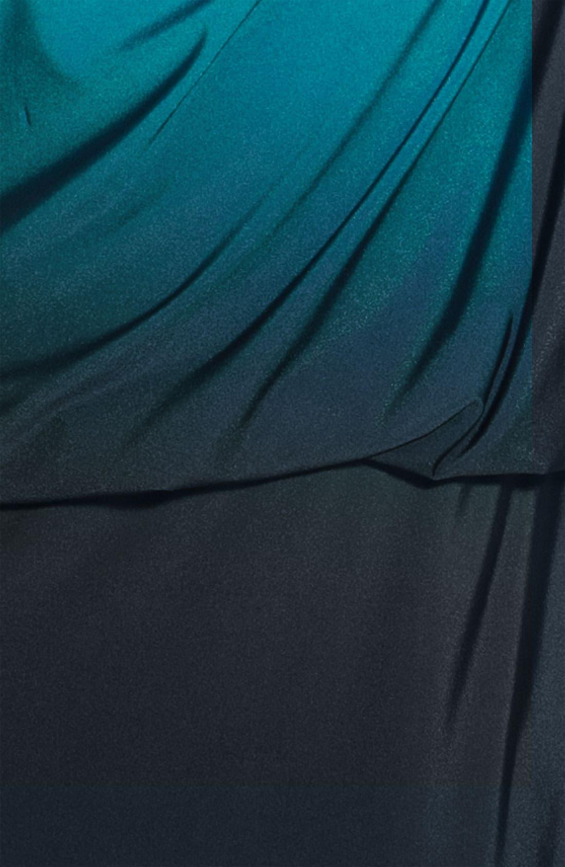 Alternate Image 3  - JS Boutique Ombré One Shoulder Jersey Dress