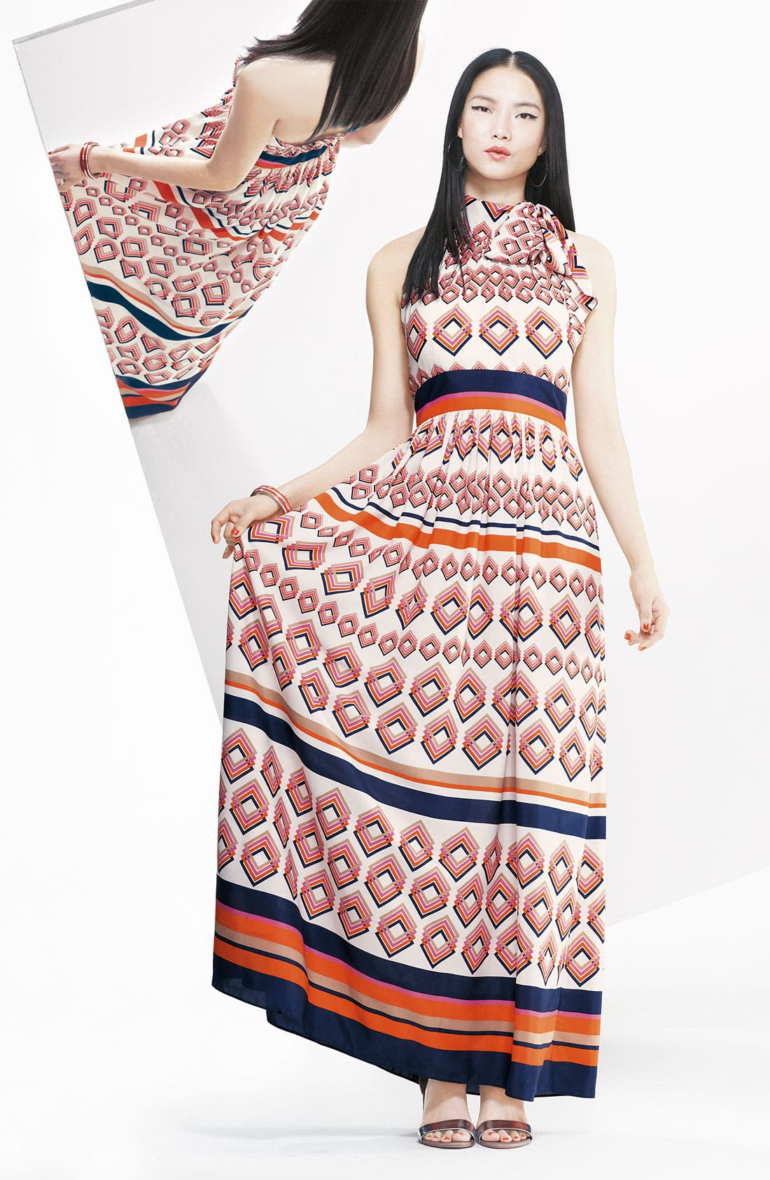 Alternate Image 4  - Eliza J Tie Neck Maxi Dress