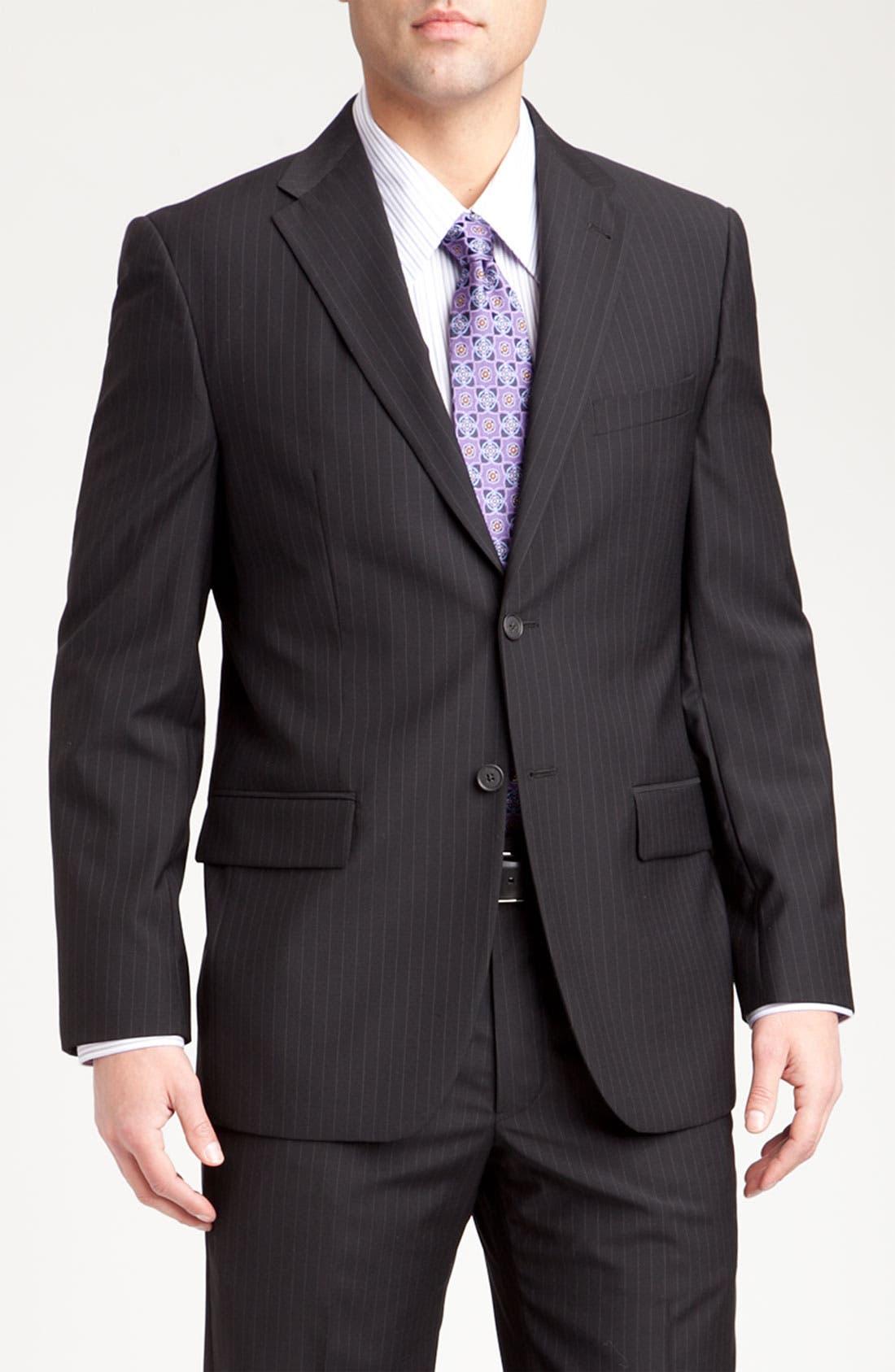 Main Image - Joseph Abboud Two Button Stripe Suit