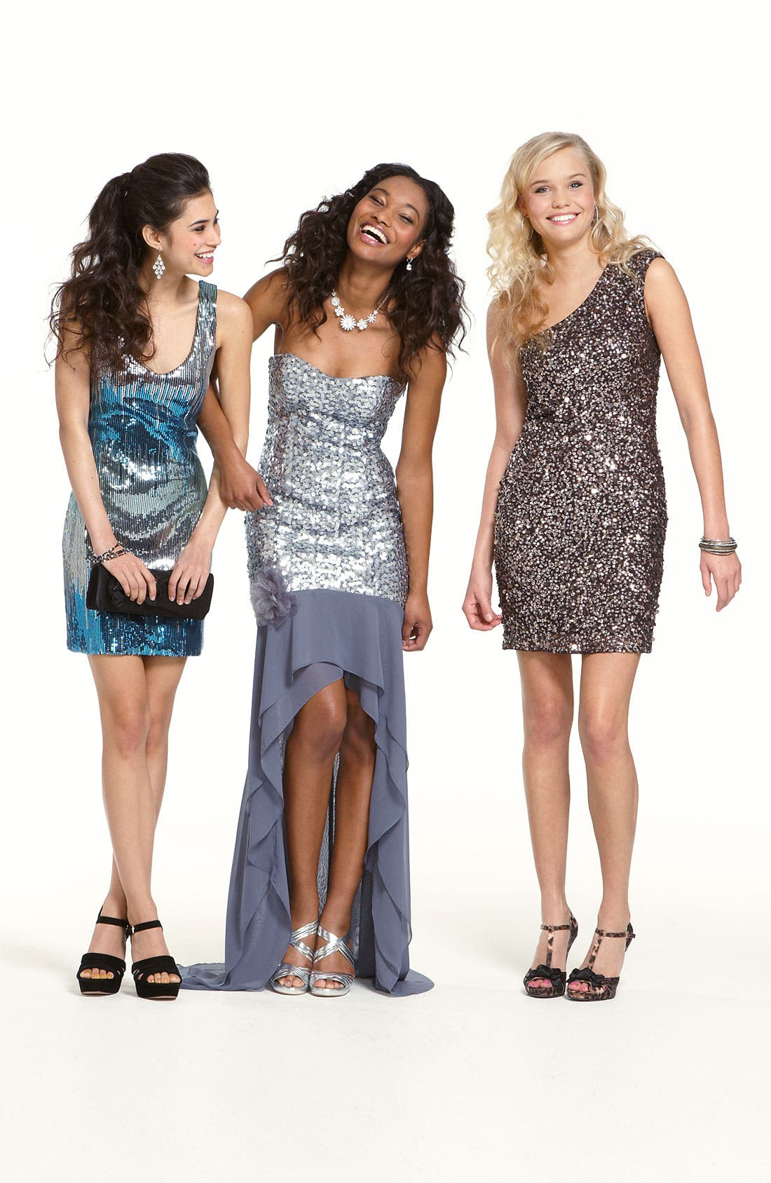 Alternate Image 3  - Adrianna Papell Sequin One Shoulder Dress