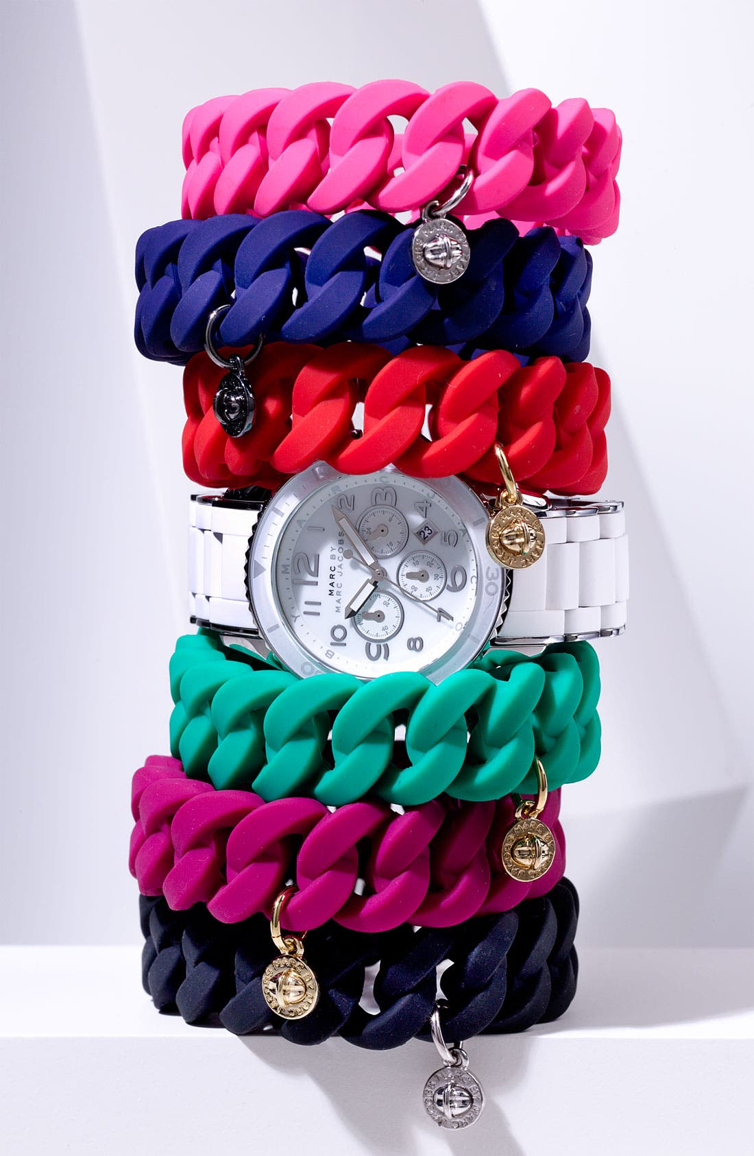 Alternate Image 2  - MARC BY MARC JACOBS 'Rubber Turnlock' Stretch Bracelet