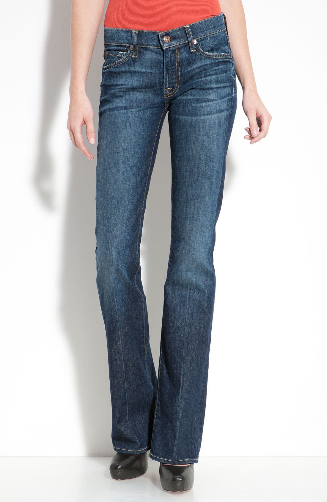 Alternate Image 1  - 7 For All Mankind® Bootcut Jeans (Regular & Short) (Nouveau New York)
