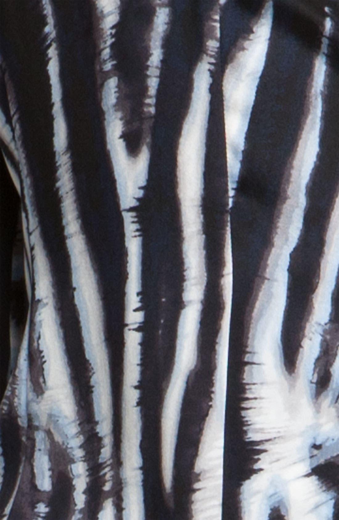 Alternate Image 3  - St. John Collection Easy Fit Zebra Print Blouse