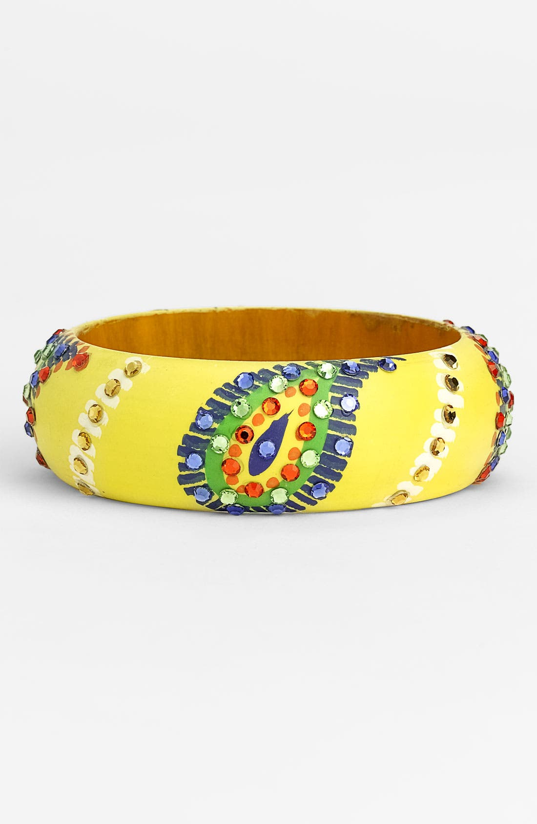 Alternate Image 1 Selected - Cara Accessories 'Medium' Painted Paisley Bangle