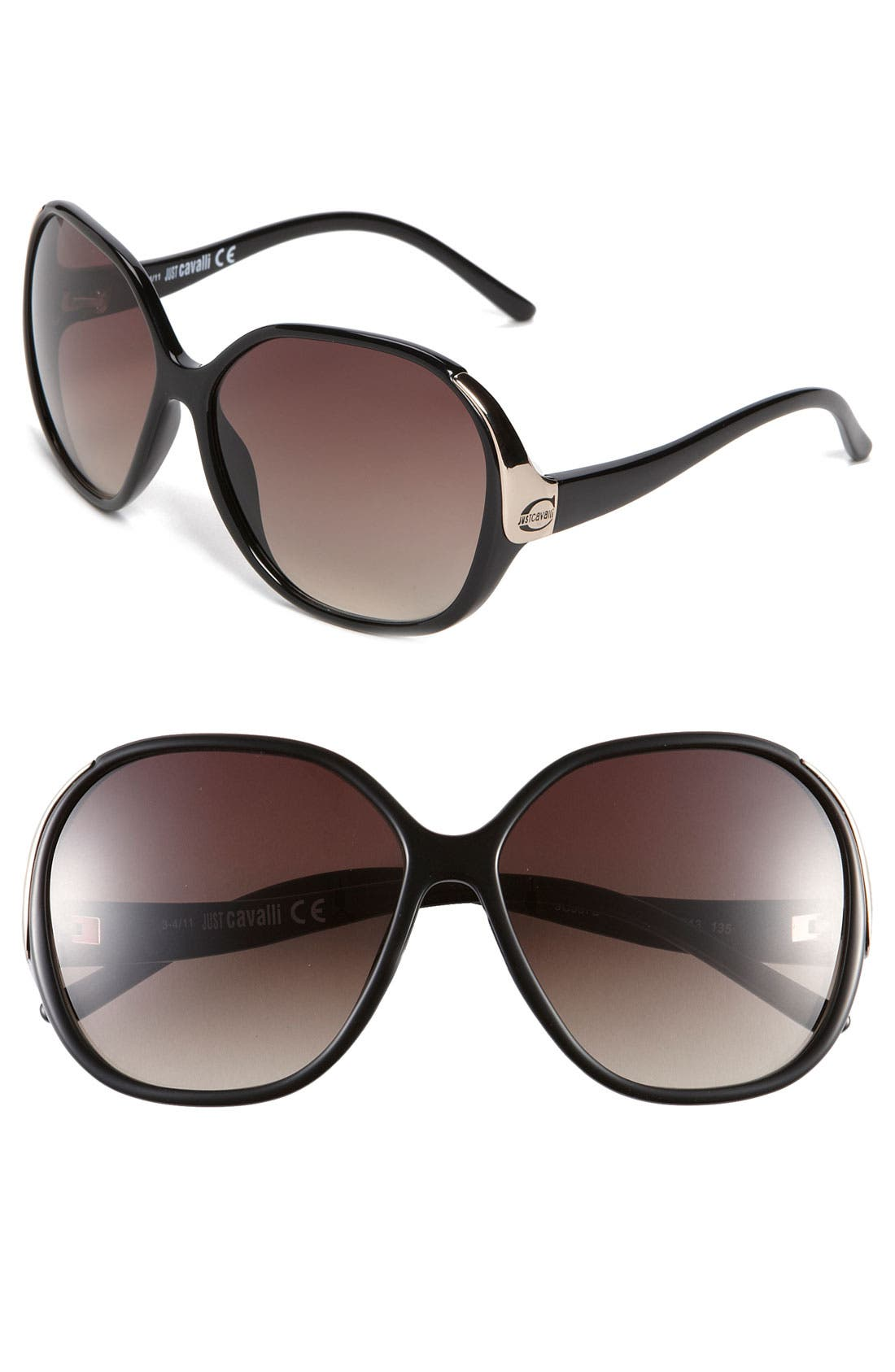 Alternate Image 1 Selected - Just Cavalli Oversized Sunglasses (Special Purchase)