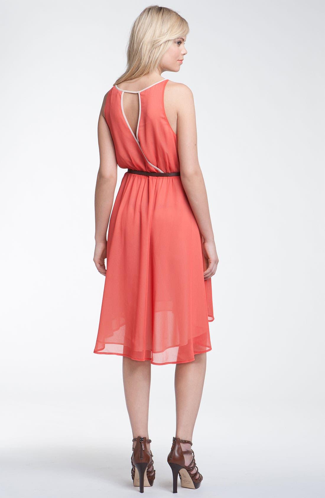 Alternate Image 2  - Hinge® Asymmetrical Layered Chiffon Dress