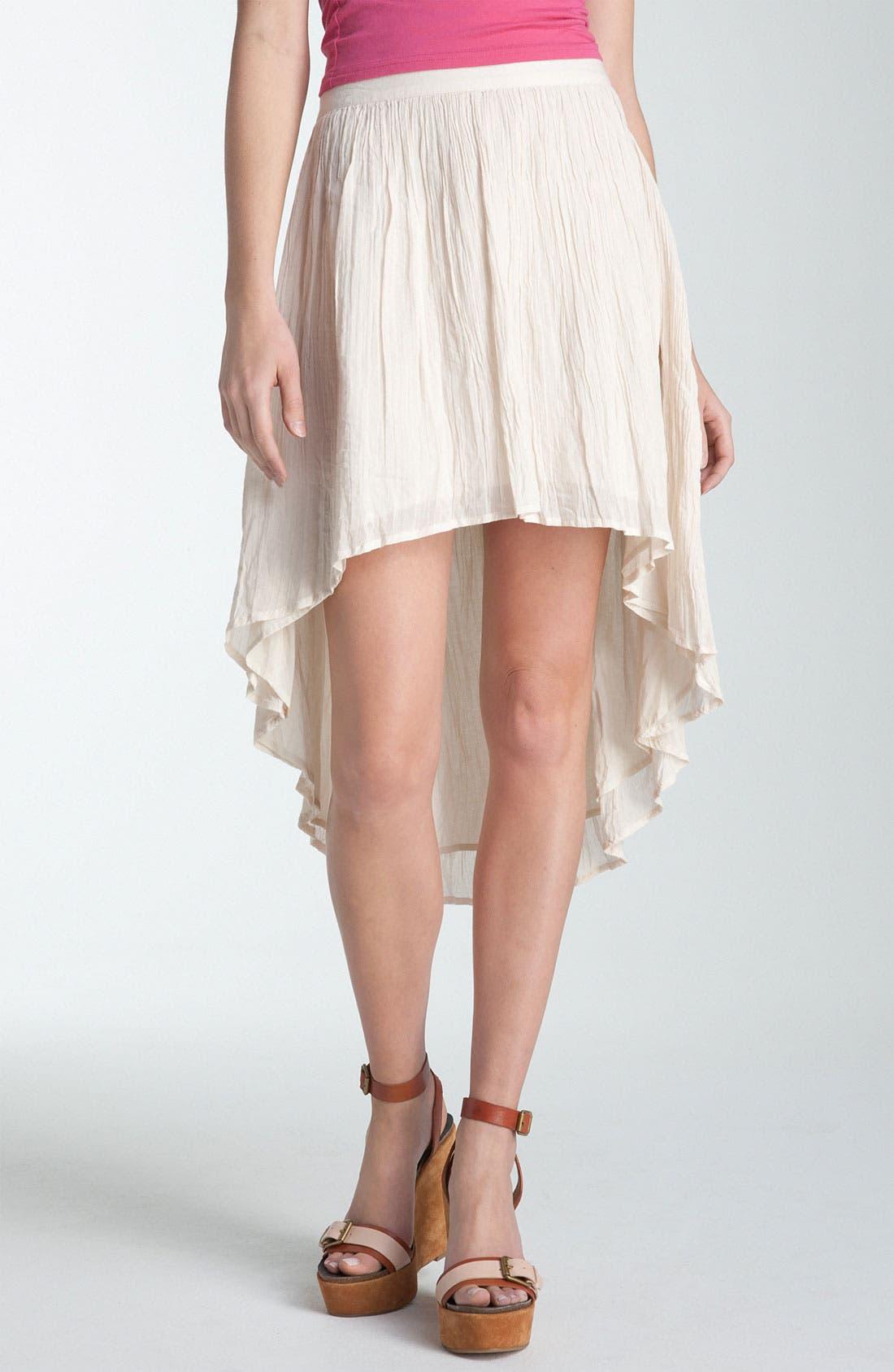 Main Image - Rubbish® Asymmetrical Hem Gauze Skirt (Juniors)
