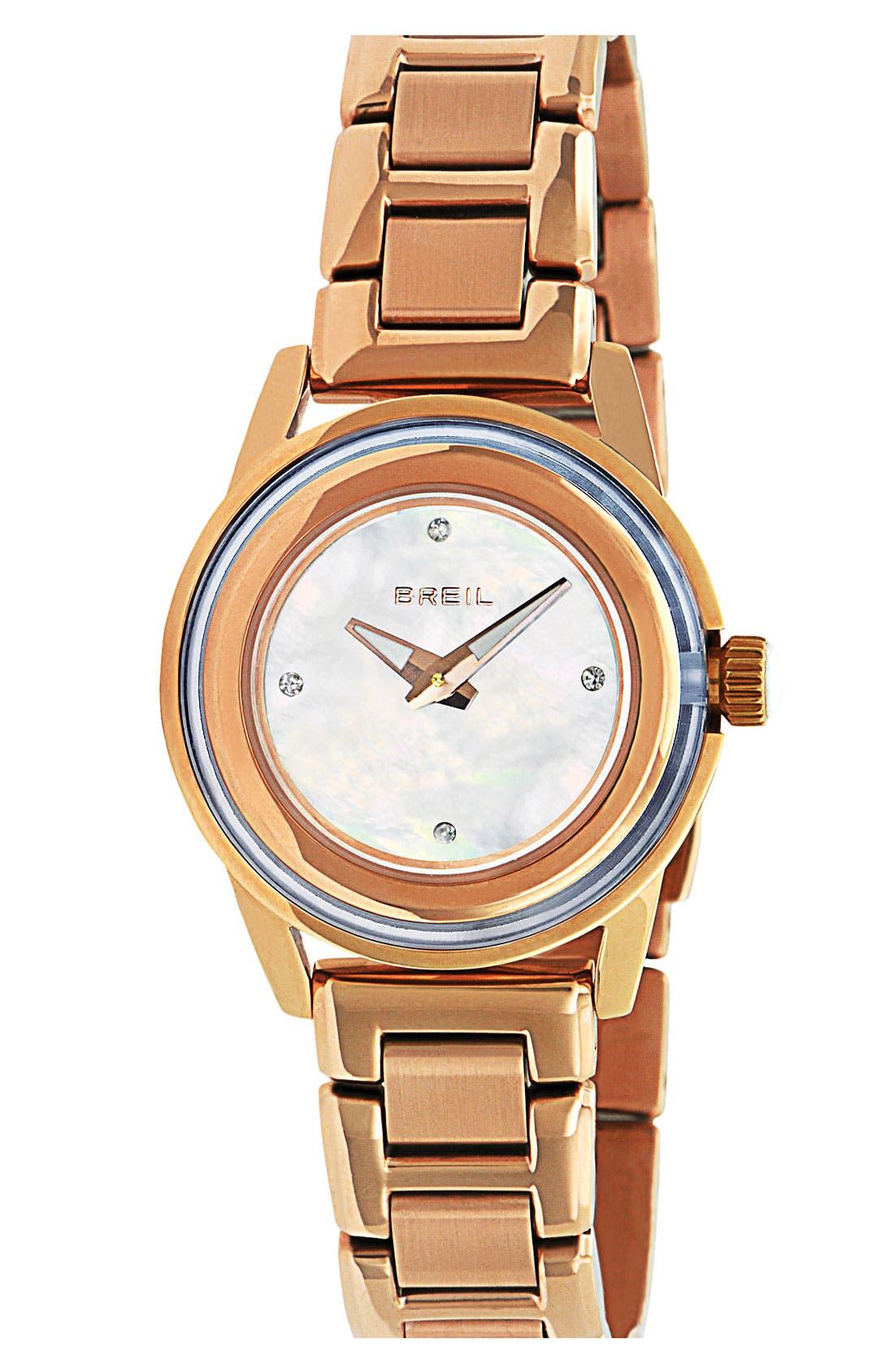 Alternate Image 1 Selected - Breil 'Orchestra' Crystal Index Bracelet Watch, 28mm