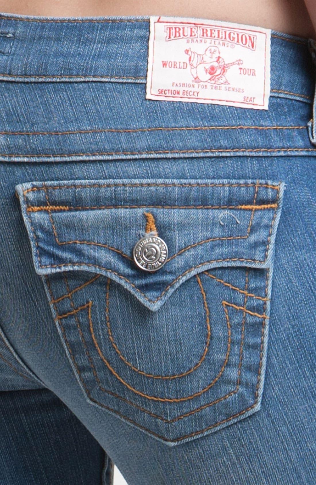 Alternate Image 3  - True Religion Brand Jeans 'Becky' Bootcut Jeans (Short Fuse)(Petite)