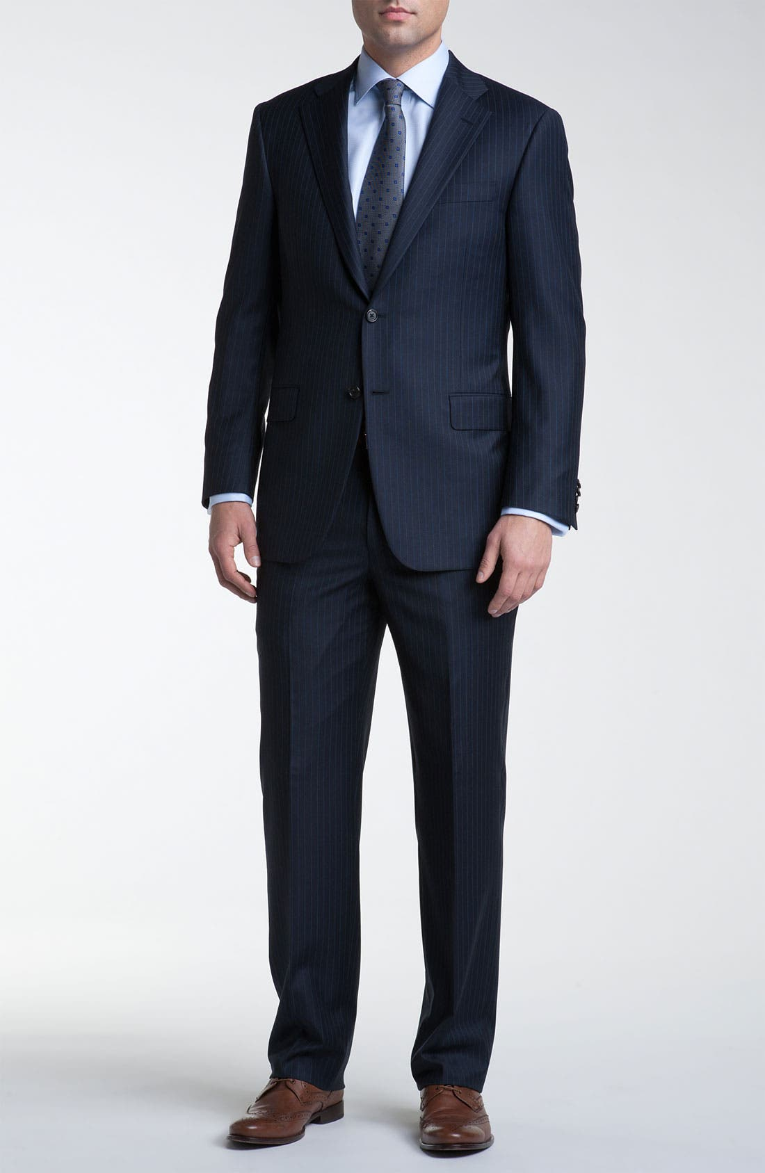 Alternate Image 2  - Hickey Freeman Bead Stripe Wool Suit