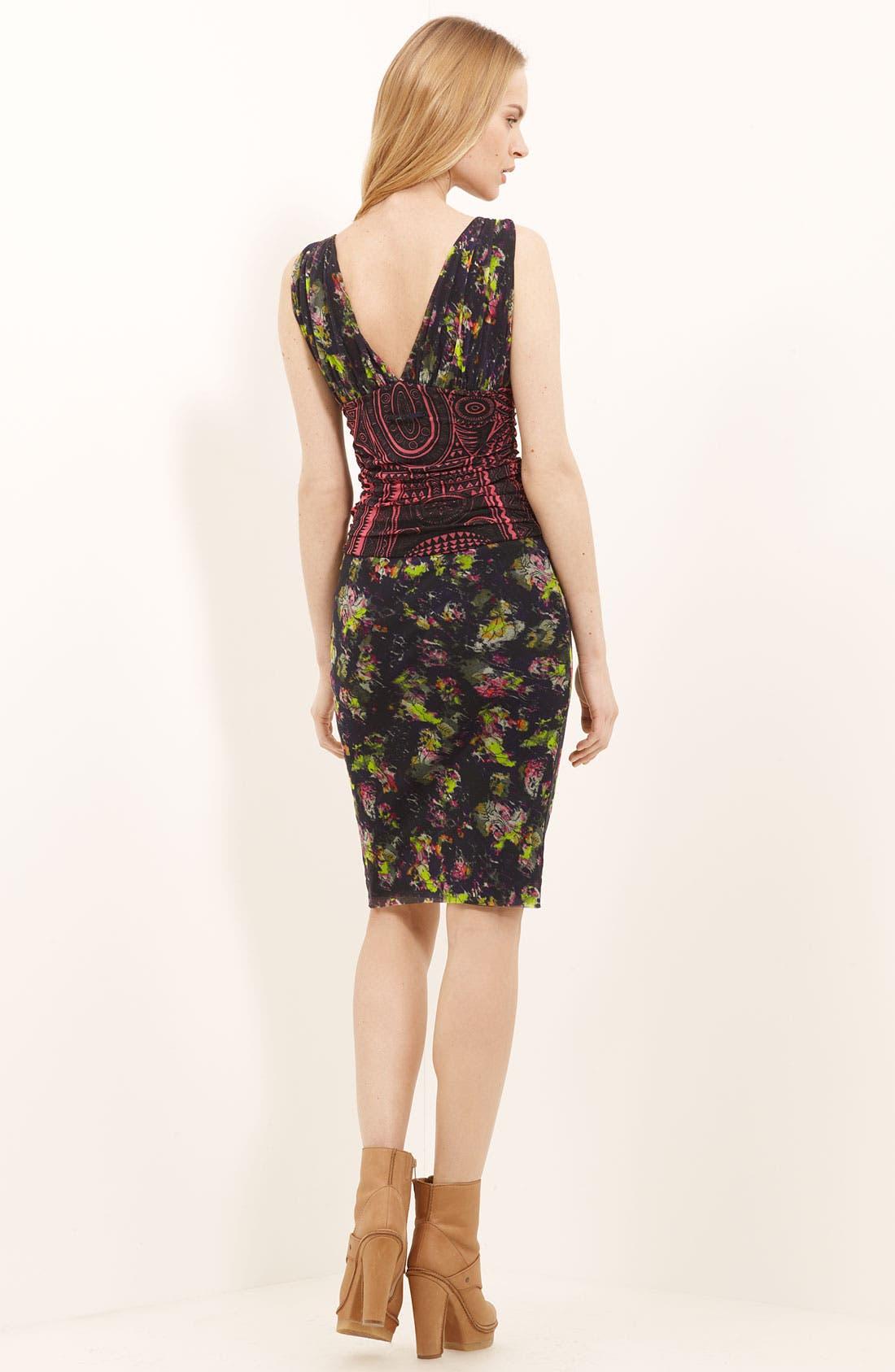 Alternate Image 2  - Jean Paul Gaultier Fuzzi Mixed Print Tulle Dress