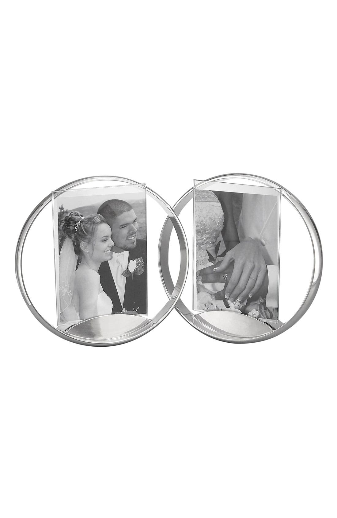 Alternate Image 1 Selected - Nambé 'Forever' Double Picture Frame (5x7)