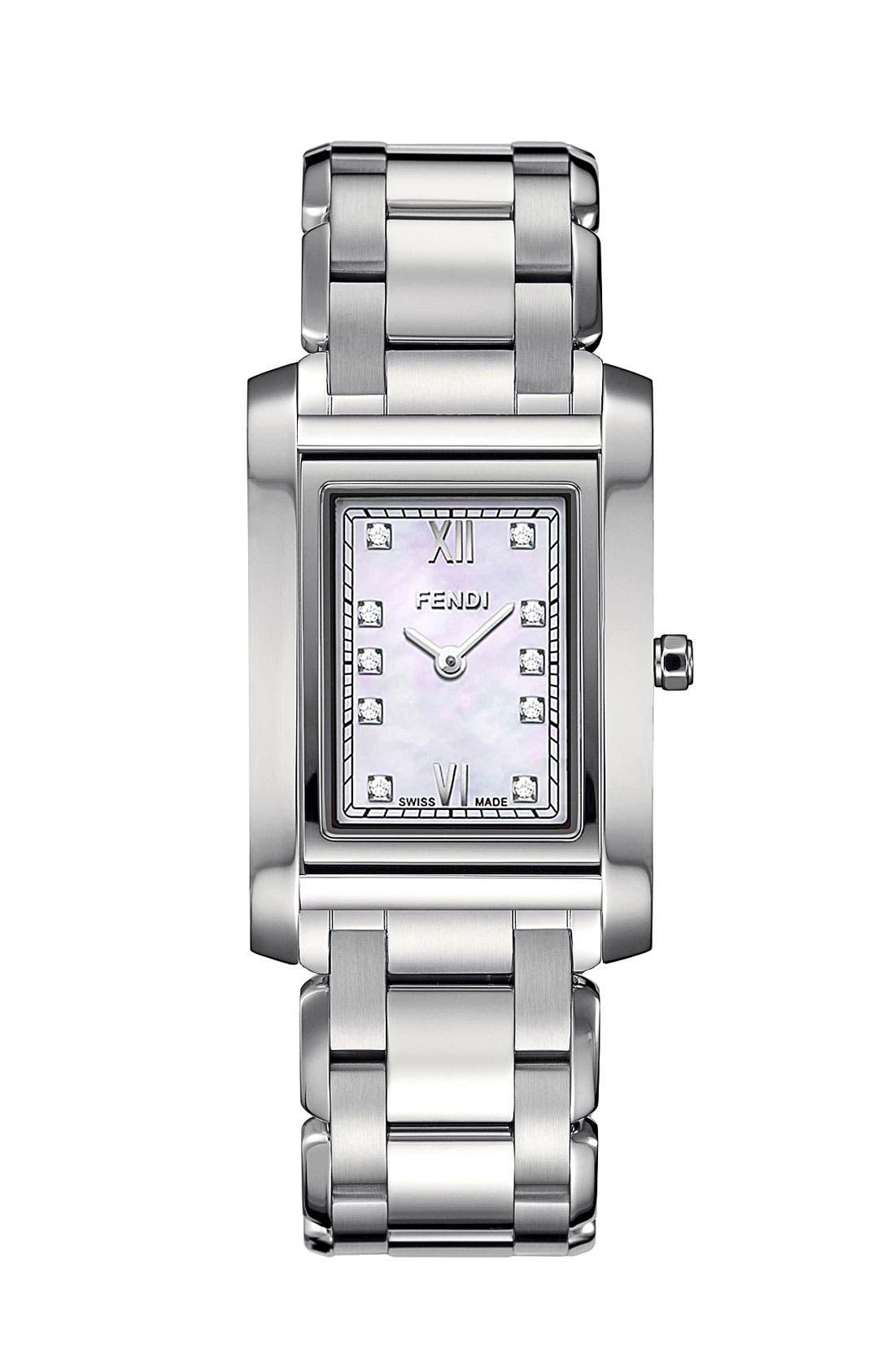 Main Image - Fendi 'Loop - Medium' Diamond Dial Watch