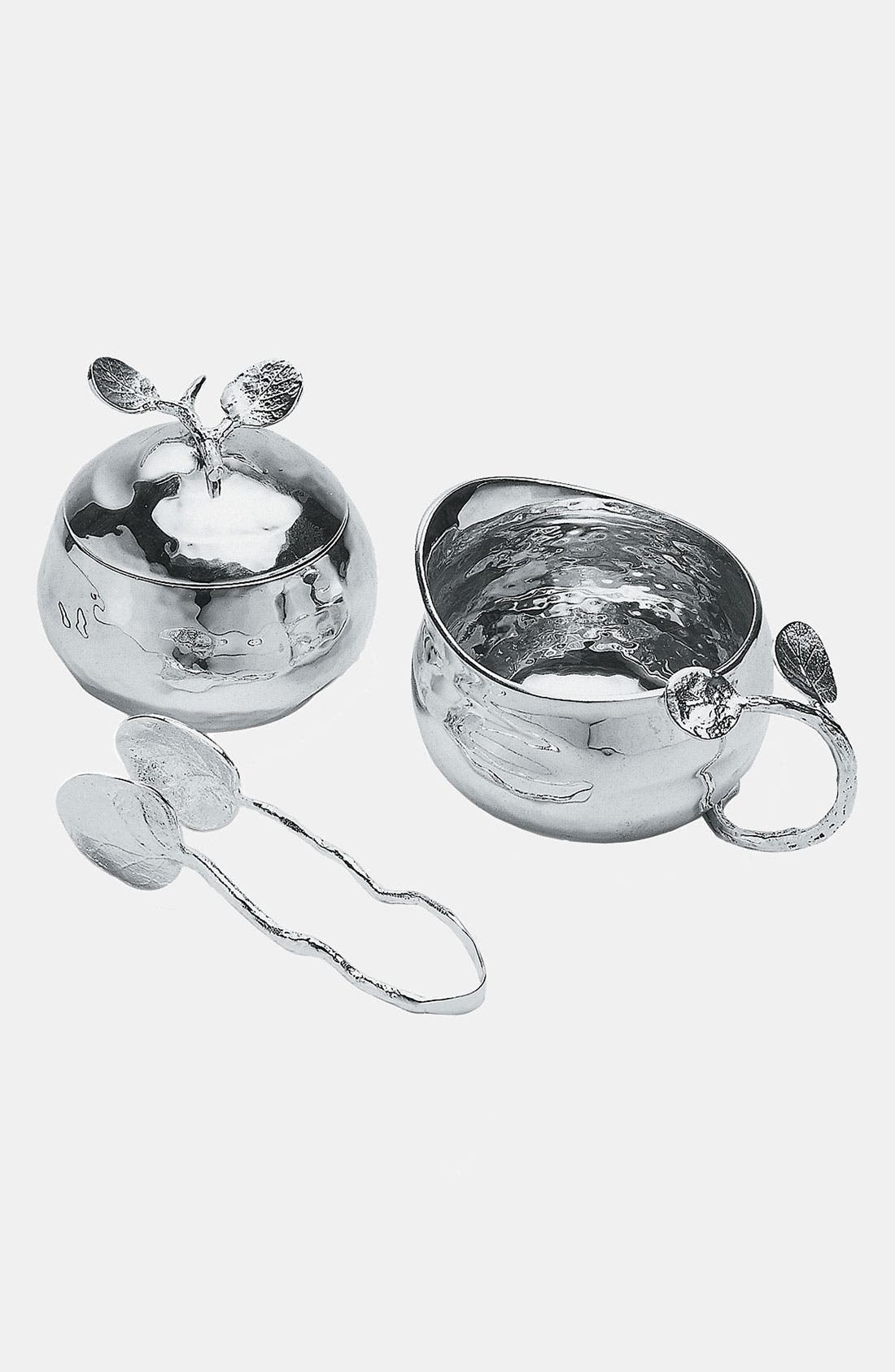 Main Image - Michael Aram 'Botanical Leaf' Sugar Bowl, Creamer & Tongs